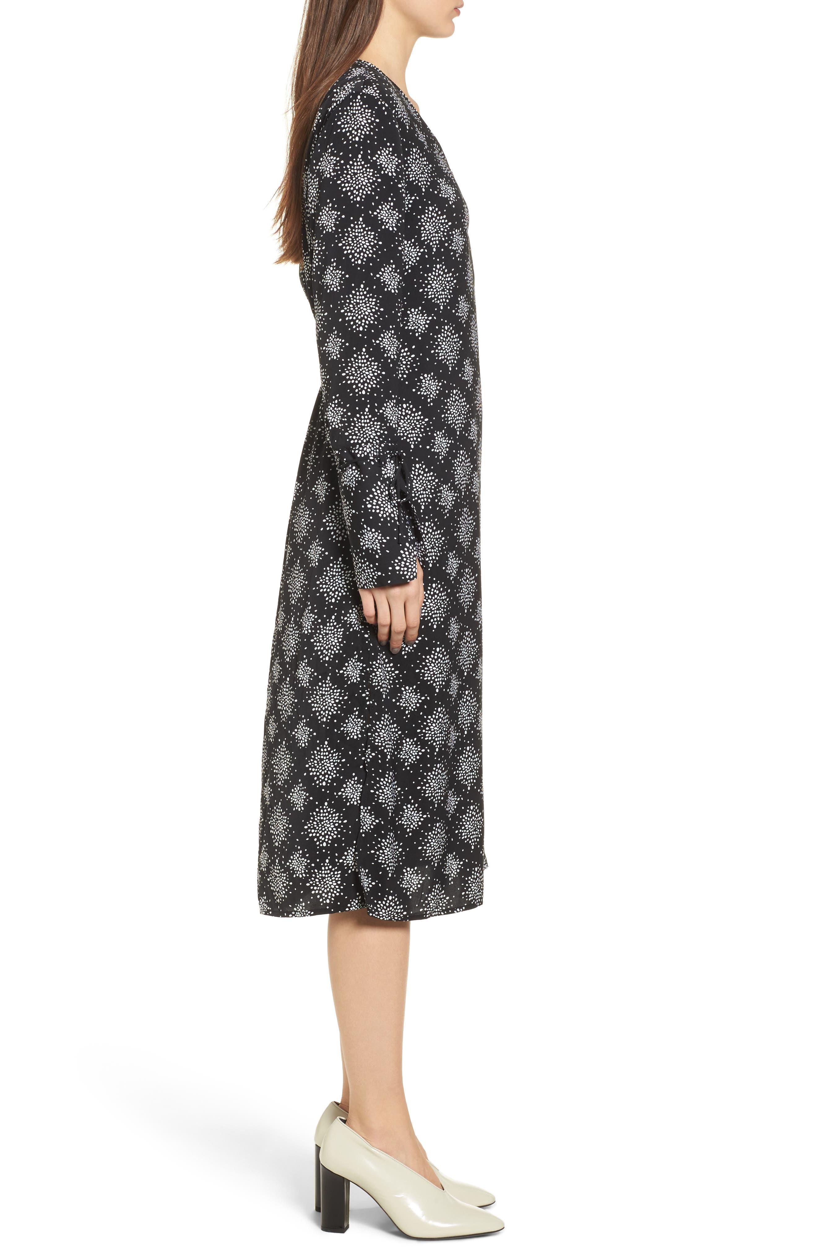 Emergent Wrap Midi Dress,                             Alternate thumbnail 3, color,                             002