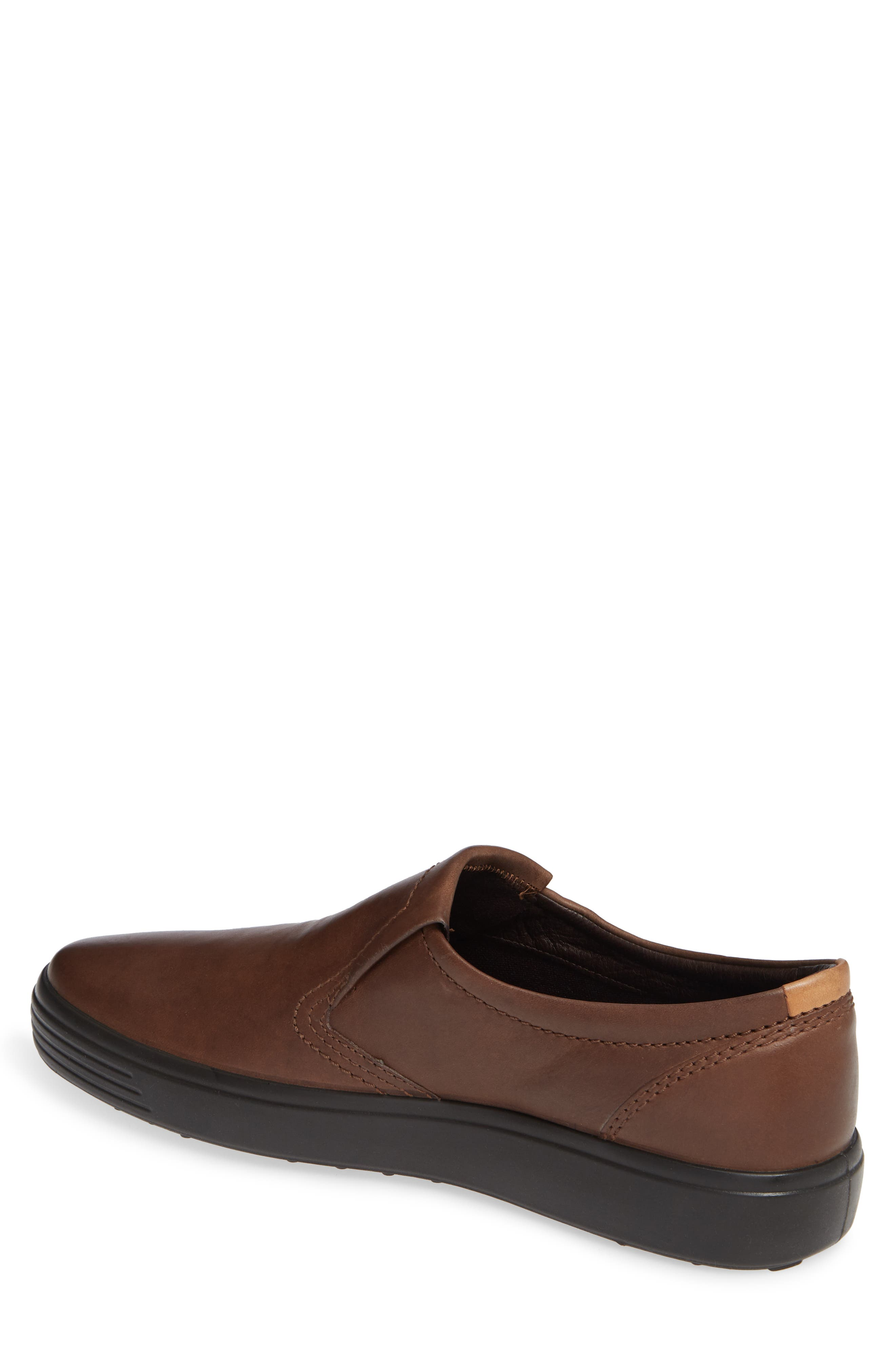 'Soft 7' Slip-On,                             Alternate thumbnail 2, color,                             BROWN LEATHER