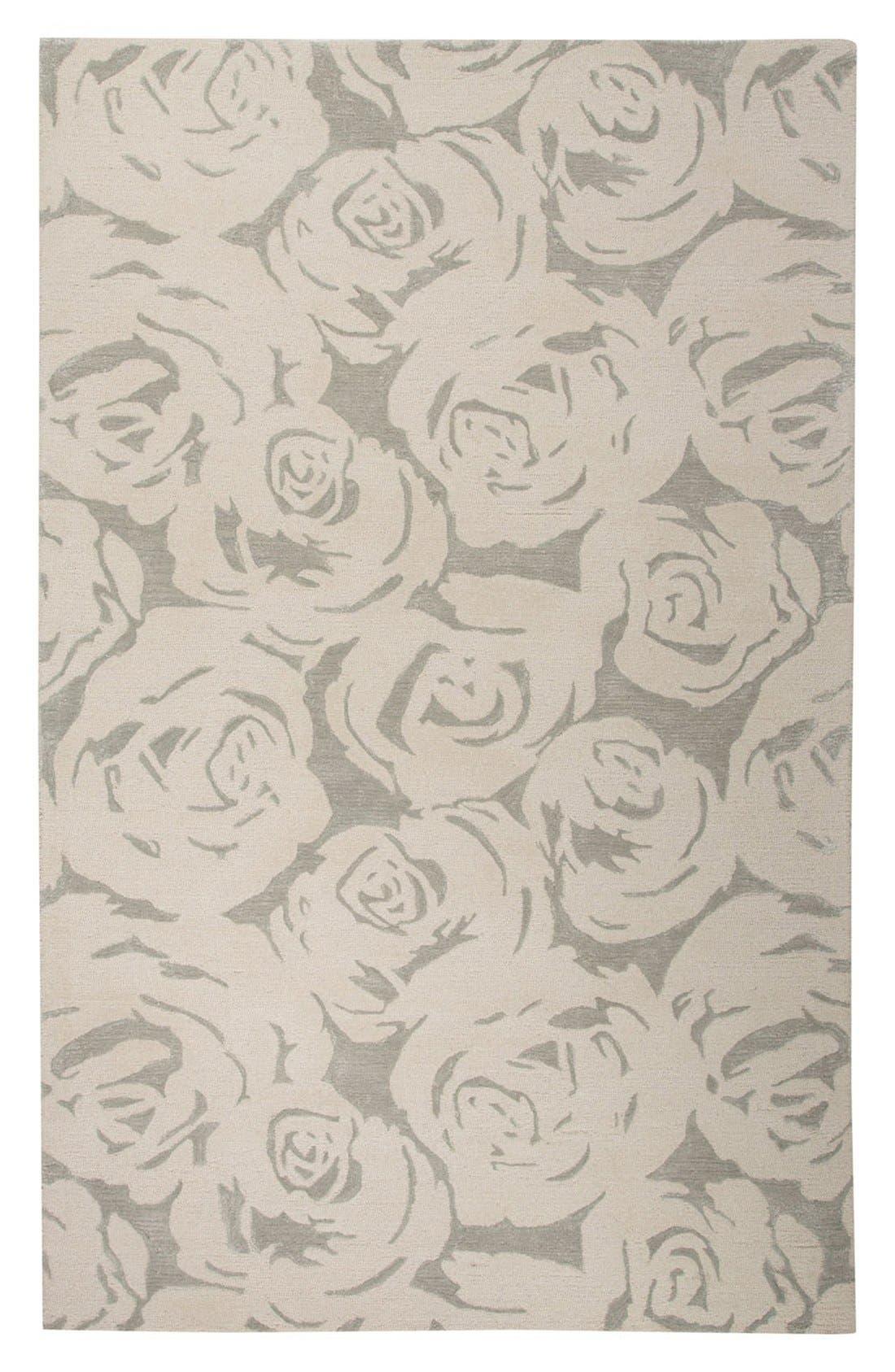 'gramercy - floral' wool & silk rug,                             Main thumbnail 2, color,
