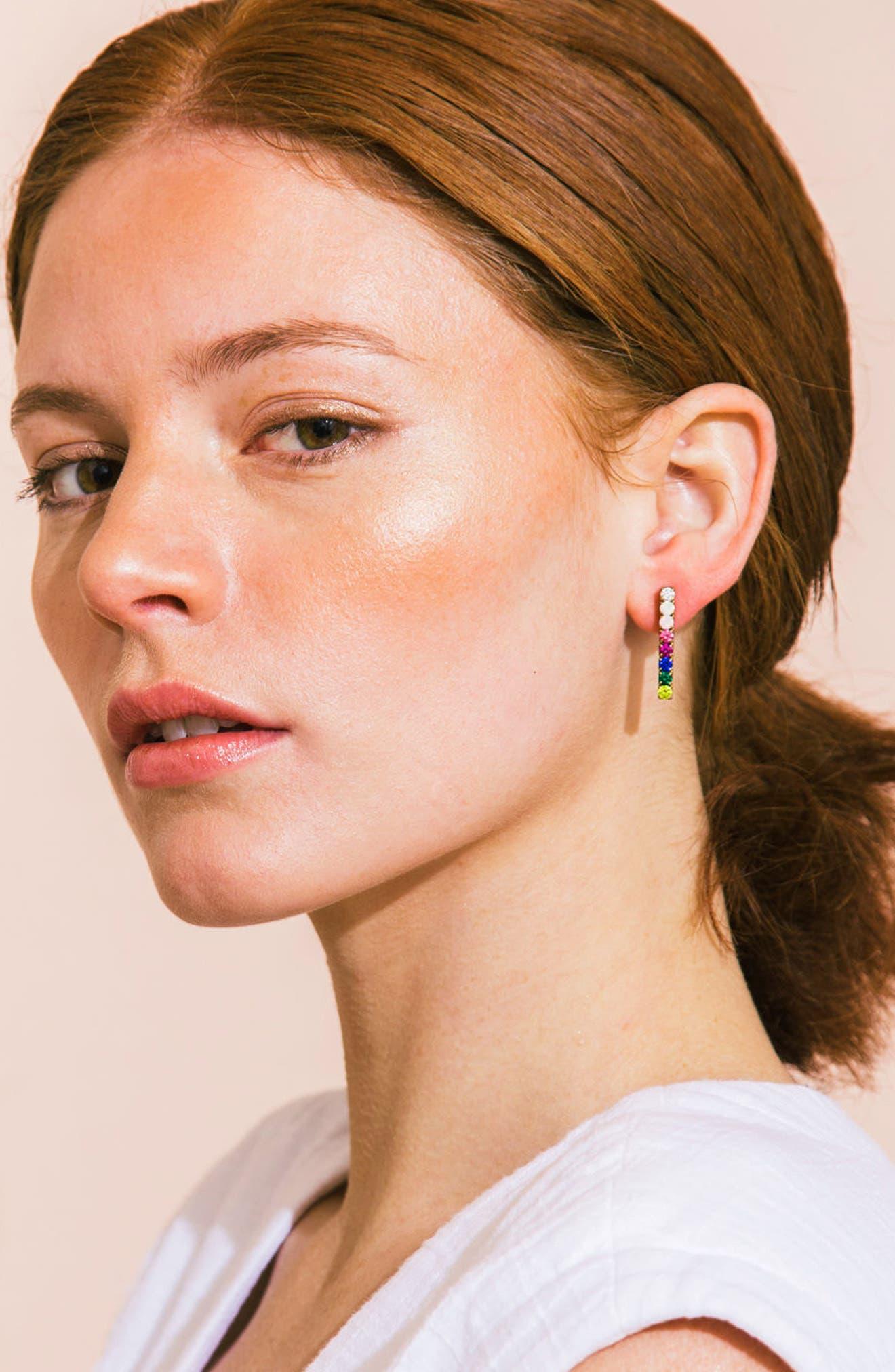 Paige Bar Stud Earrings,                             Alternate thumbnail 13, color,