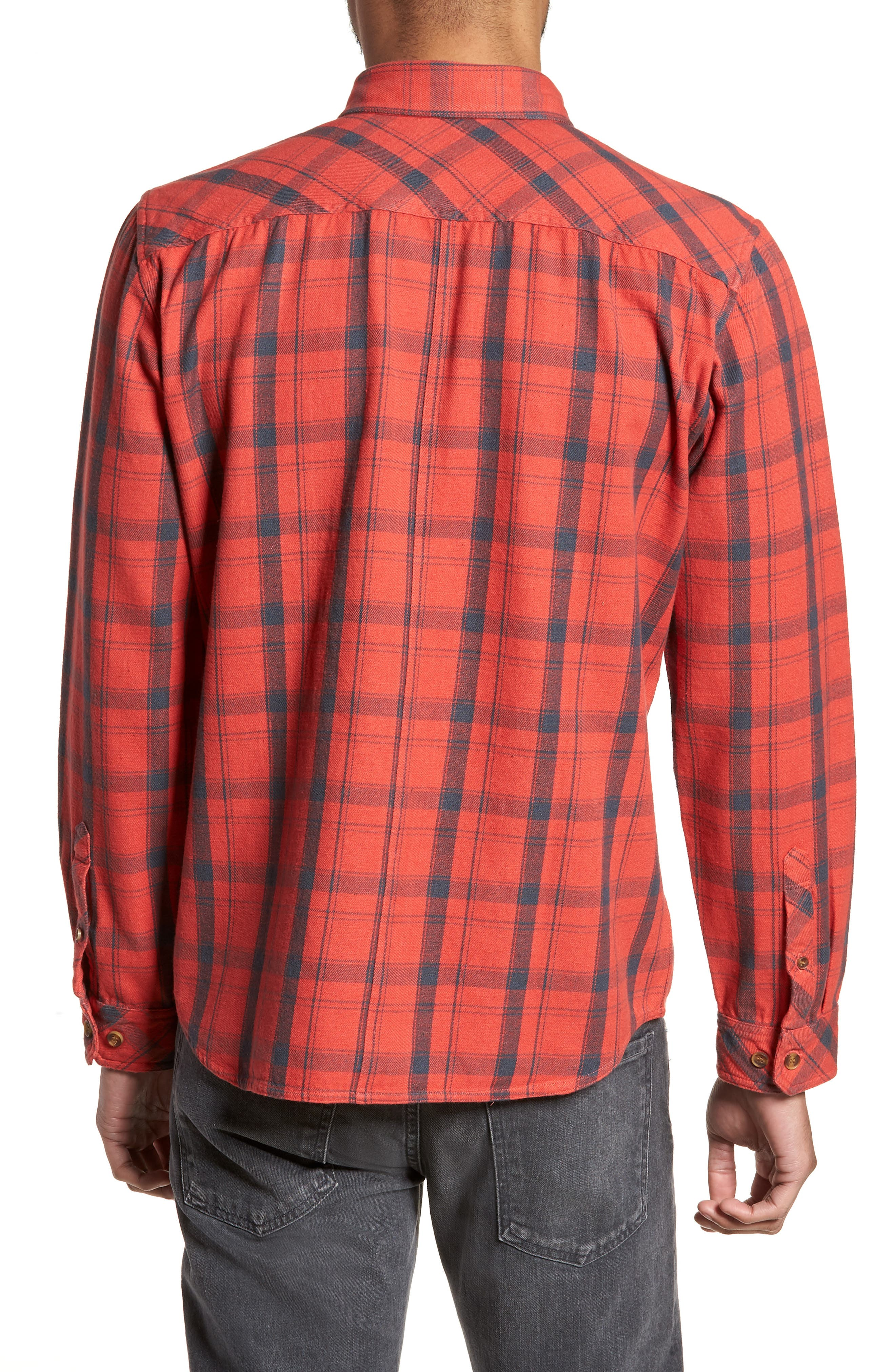Carpenter Flannel Shirt,                             Alternate thumbnail 5, color,