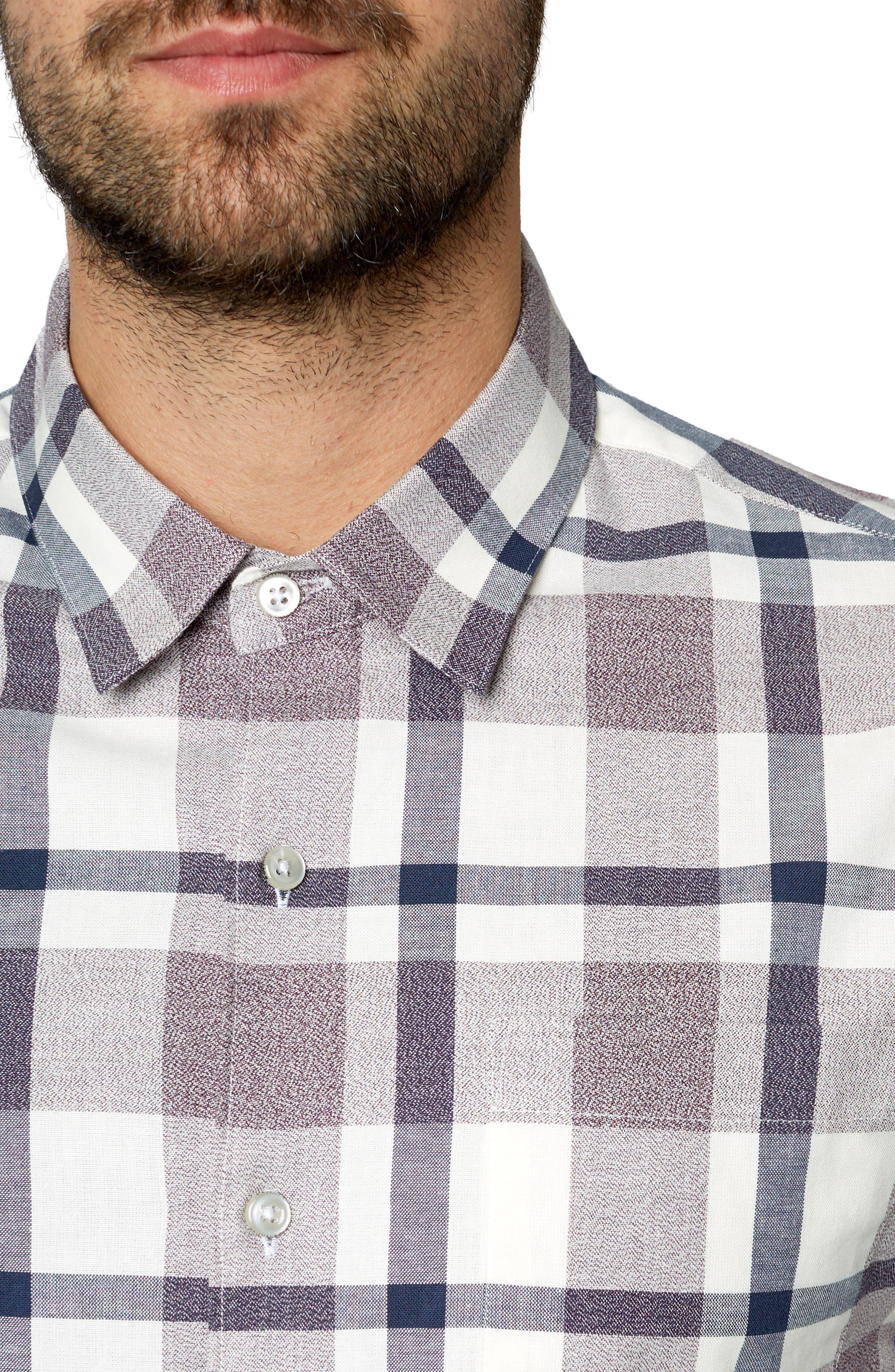 Youngblood Trim Fit Plaid Sport Shirt,                             Alternate thumbnail 2, color,                             ROSE