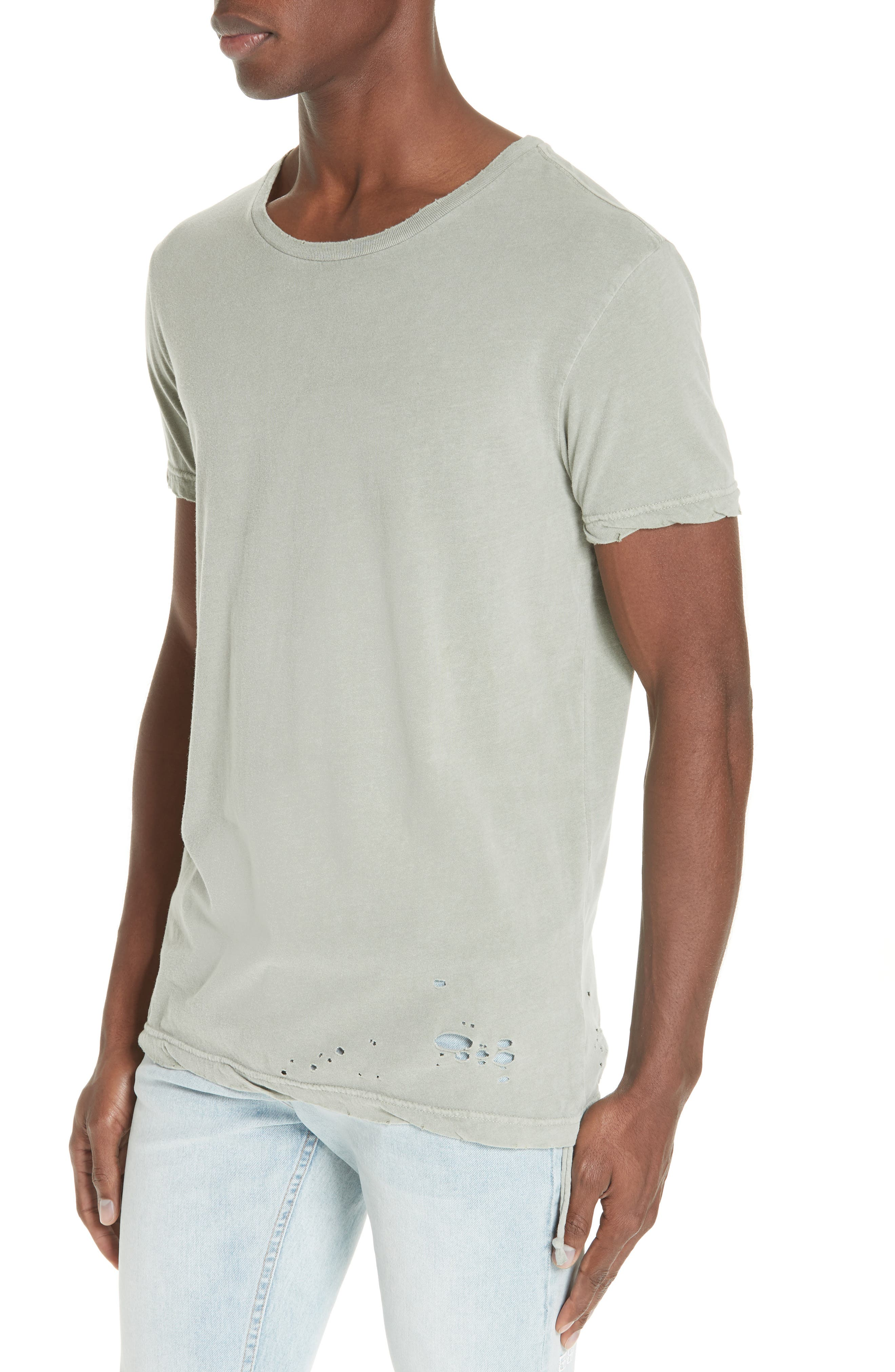 Sioux Distressed T-Shirt,                             Alternate thumbnail 4, color,                             GREEN