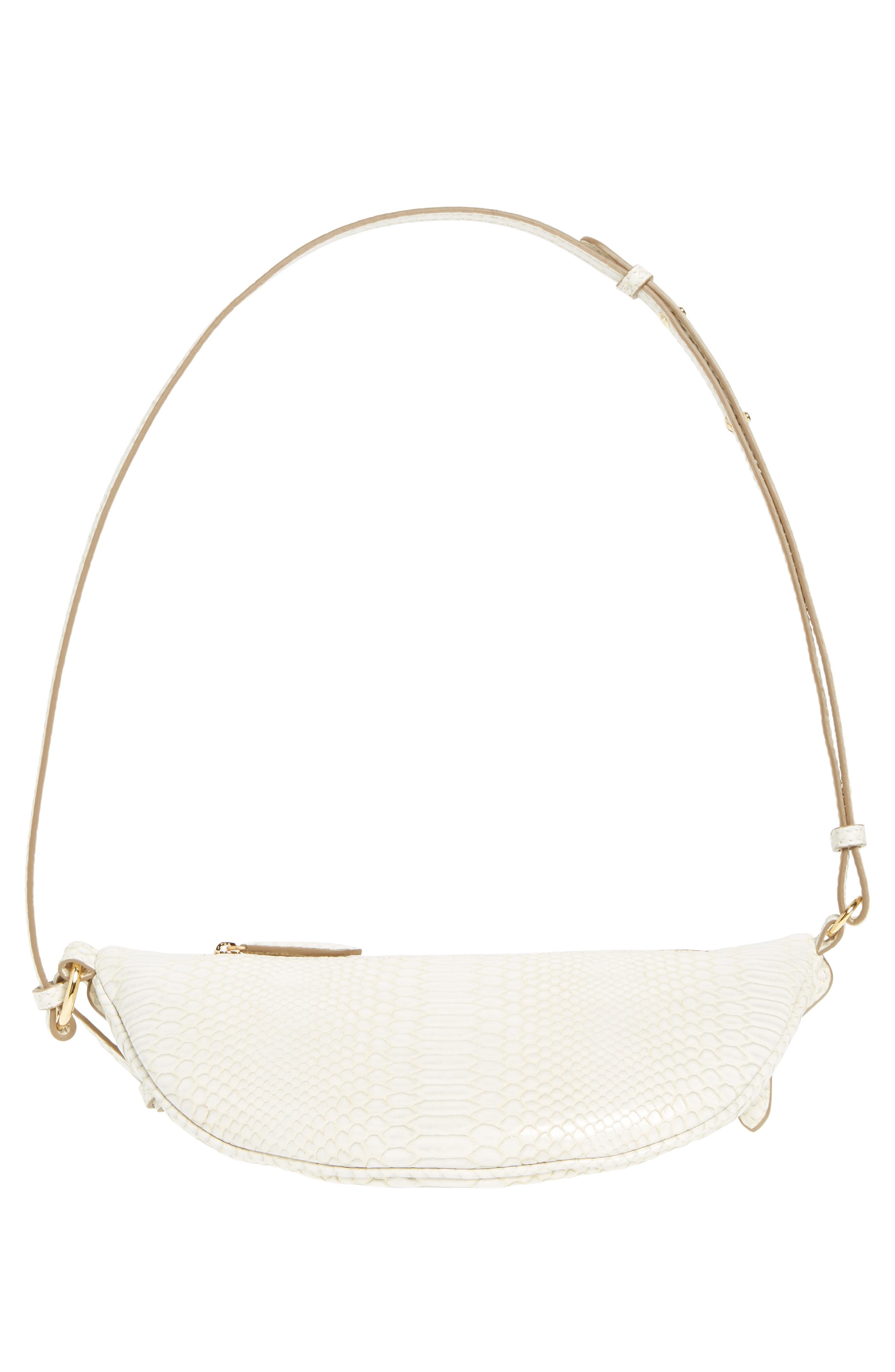 Alter Snake Faux Leather Fanny Pack,                             Alternate thumbnail 7, color,                             IVORY