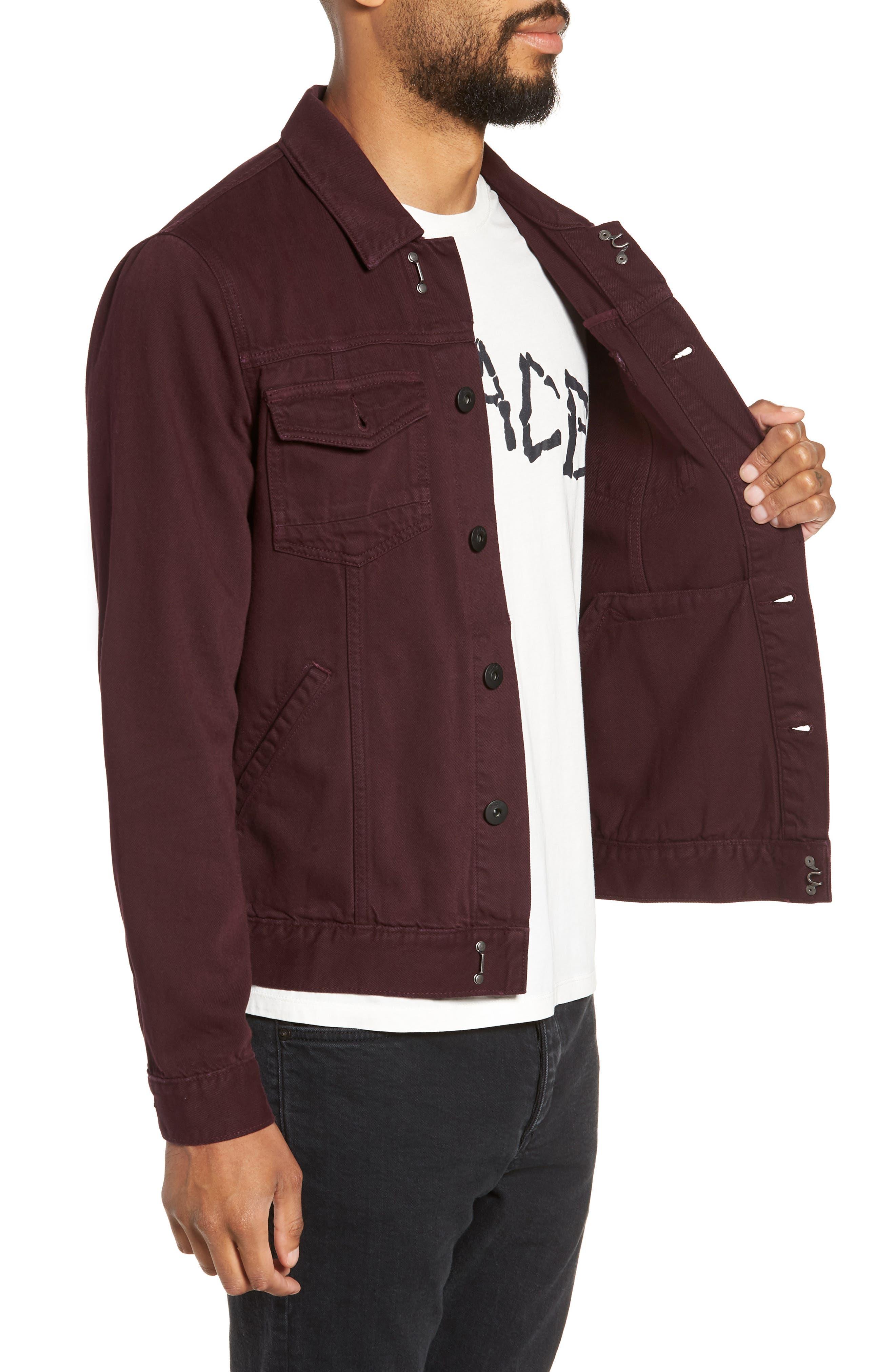 Scout Denim Jacket,                             Alternate thumbnail 3, color,                             VINTAGE AUBERGINE
