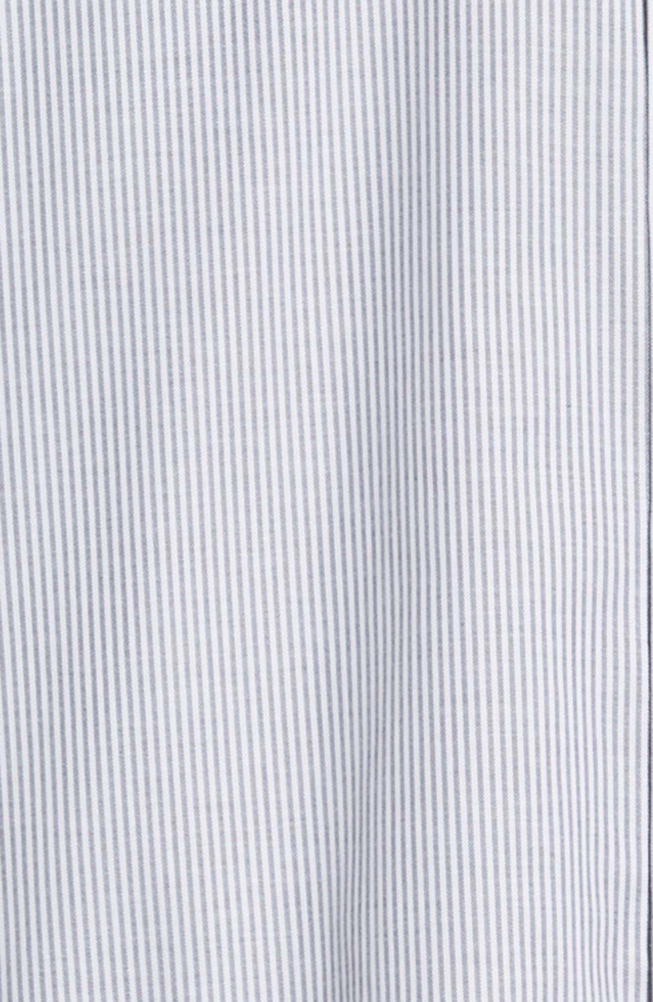 Regular Fit Stripe Stretch Oxford Shirt,                             Alternate thumbnail 6, color,                             CHARCOAL