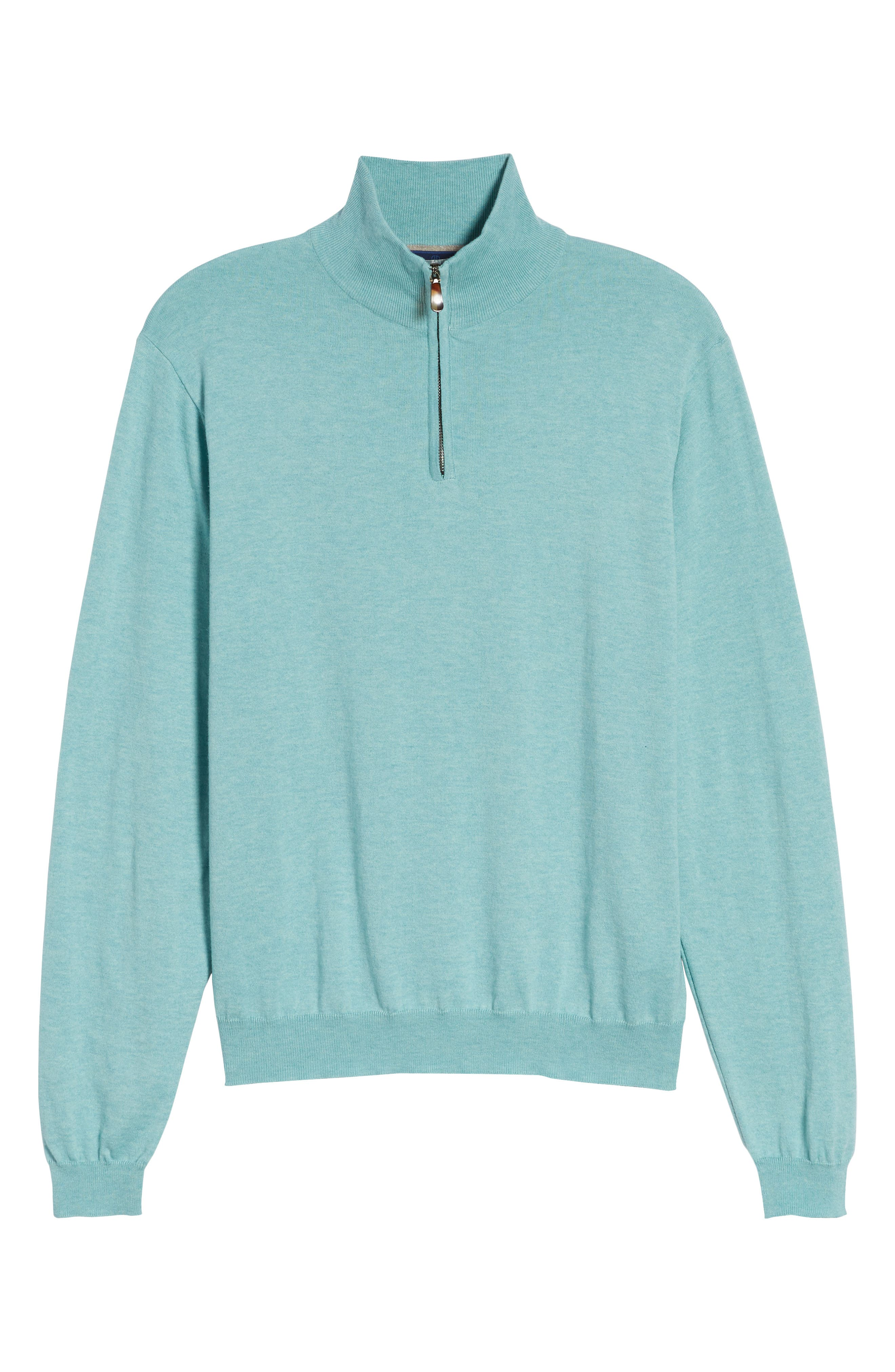 Cotton & Silk Quarter Zip Pullover,                             Alternate thumbnail 6, color,