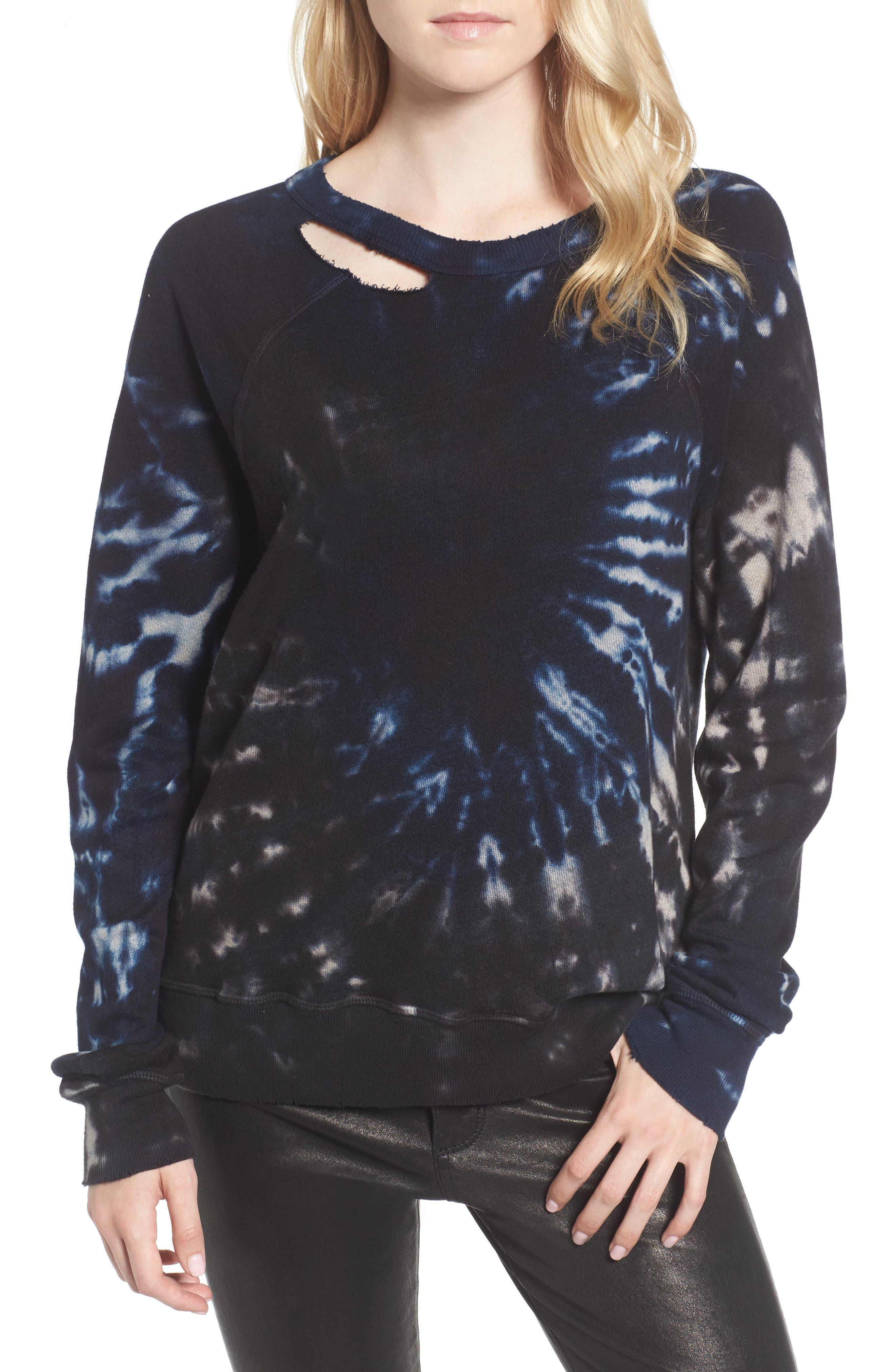 Nic Distressed Sweatshirt,                             Main thumbnail 1, color,                             010