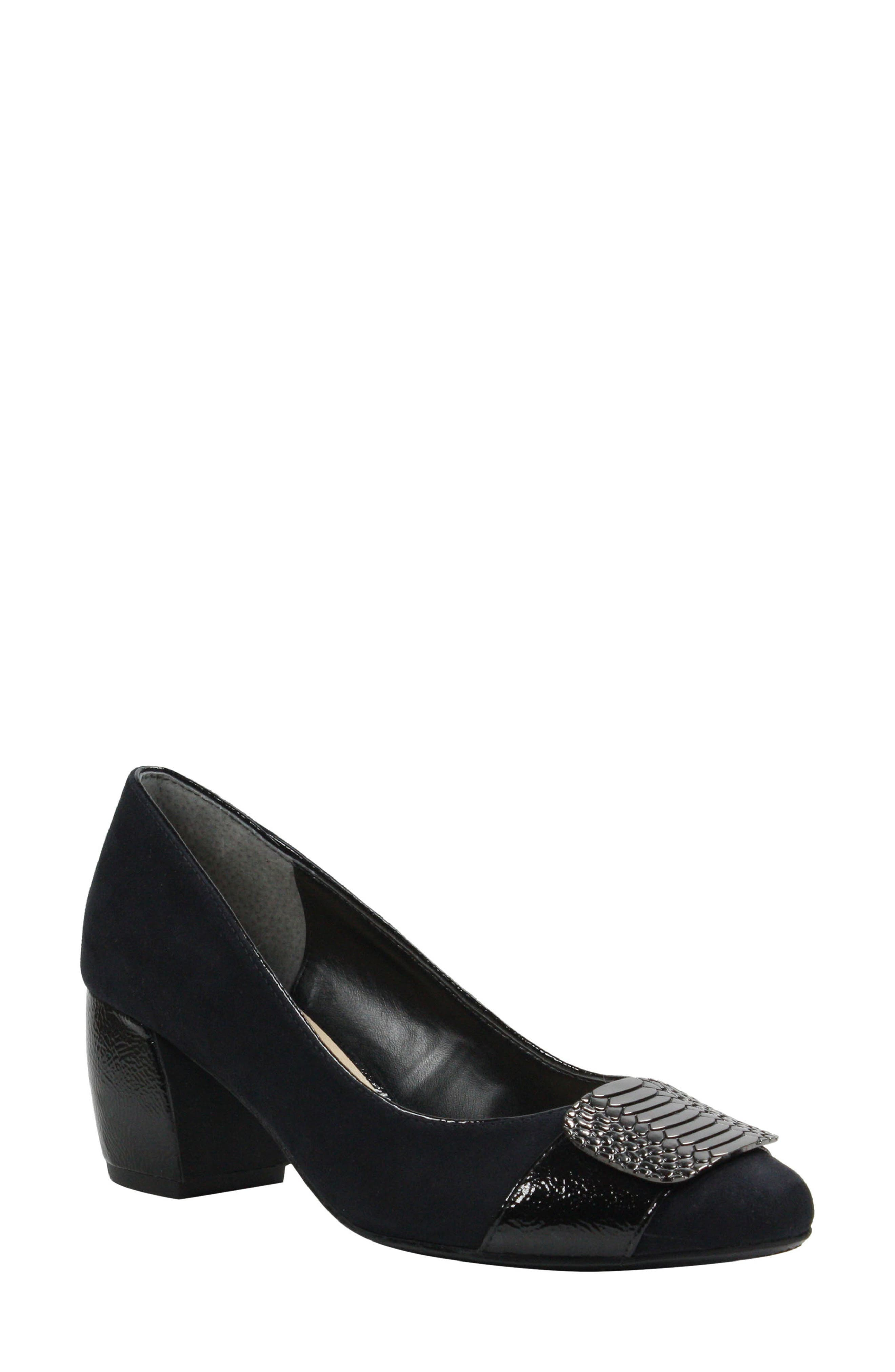 Langeley Pump,                             Main thumbnail 1, color,                             BLACK FABRIC