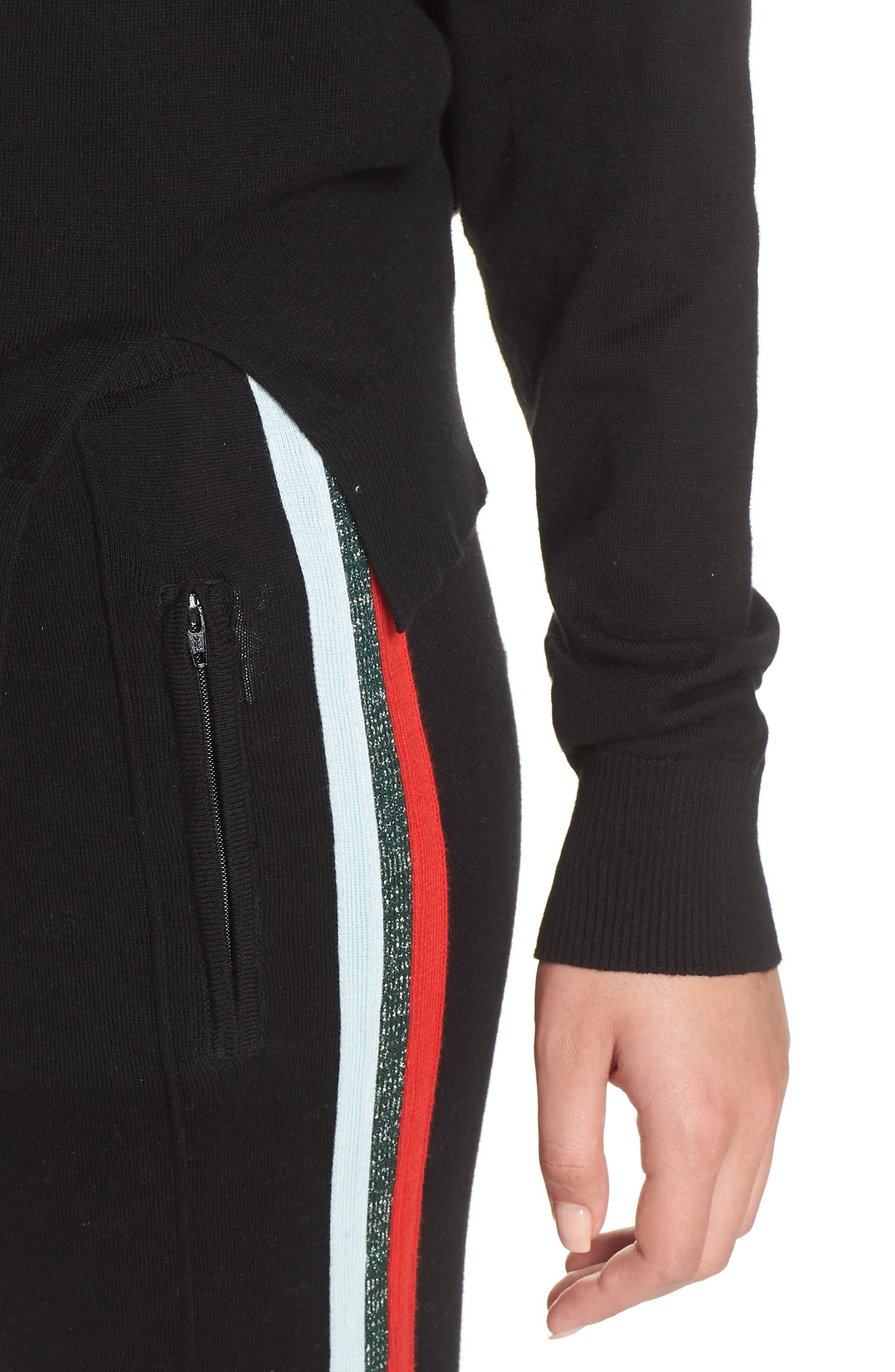 Rainbow Stripe Sweater,                             Alternate thumbnail 4, color,                             001