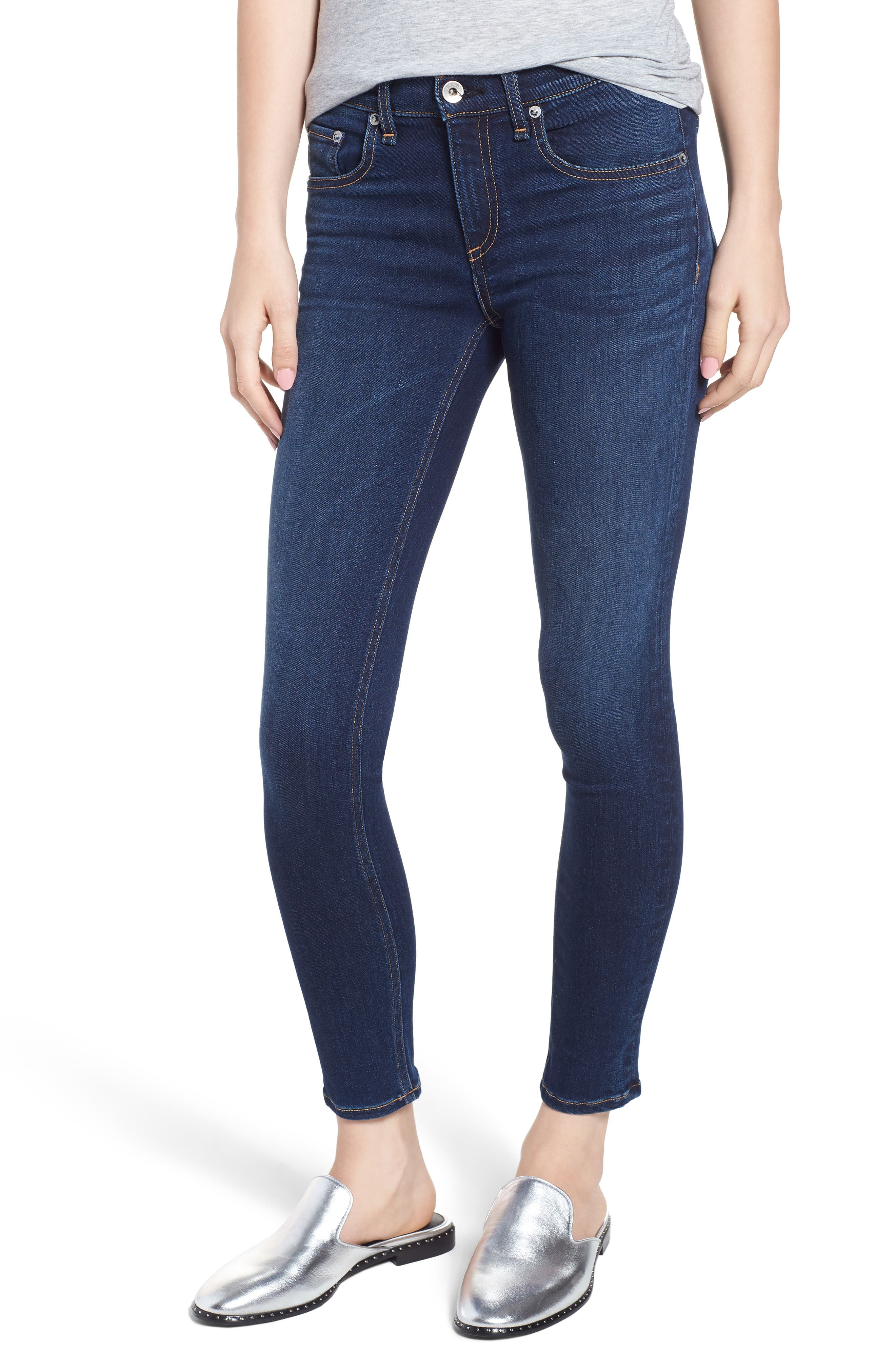 Ankle Skinny Jeans,                             Main thumbnail 1, color,                             420