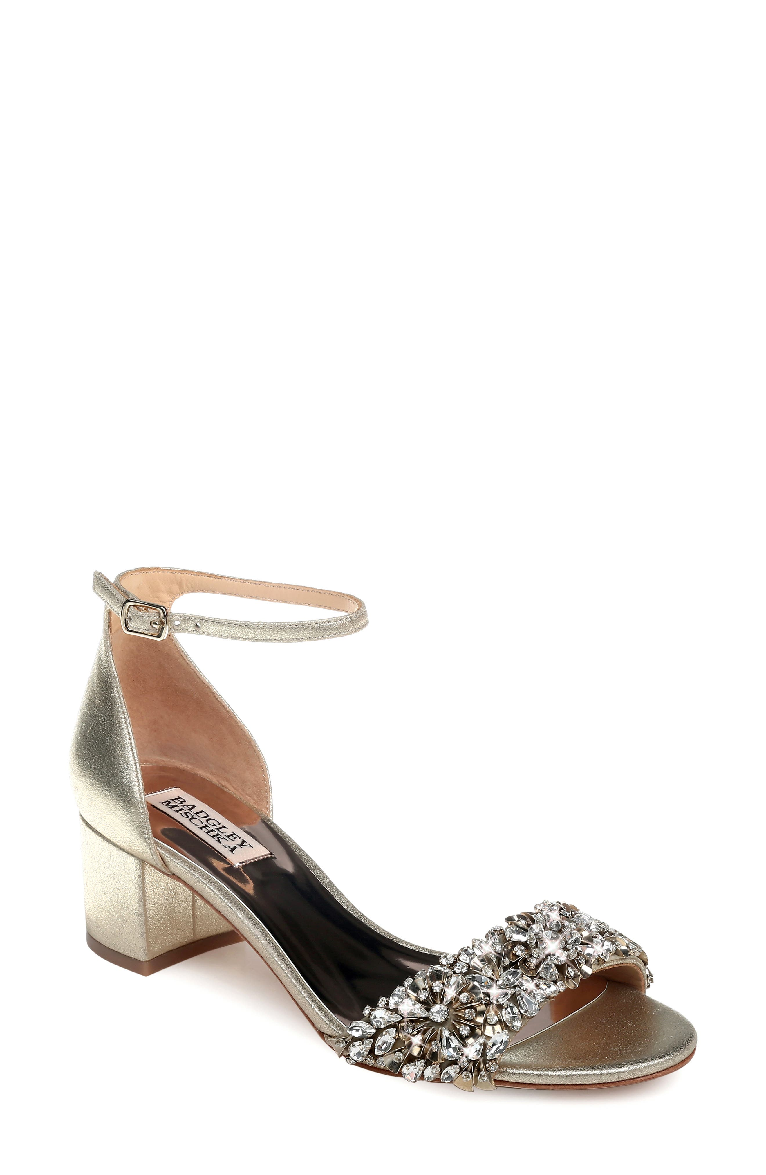 Vintage Inspired Wedding Dress | Vintage Style Wedding Dresses Womens Badgley Mischka Vega Ii Metallic Sandal Size 11 M - Metallic $255.00 AT vintagedancer.com