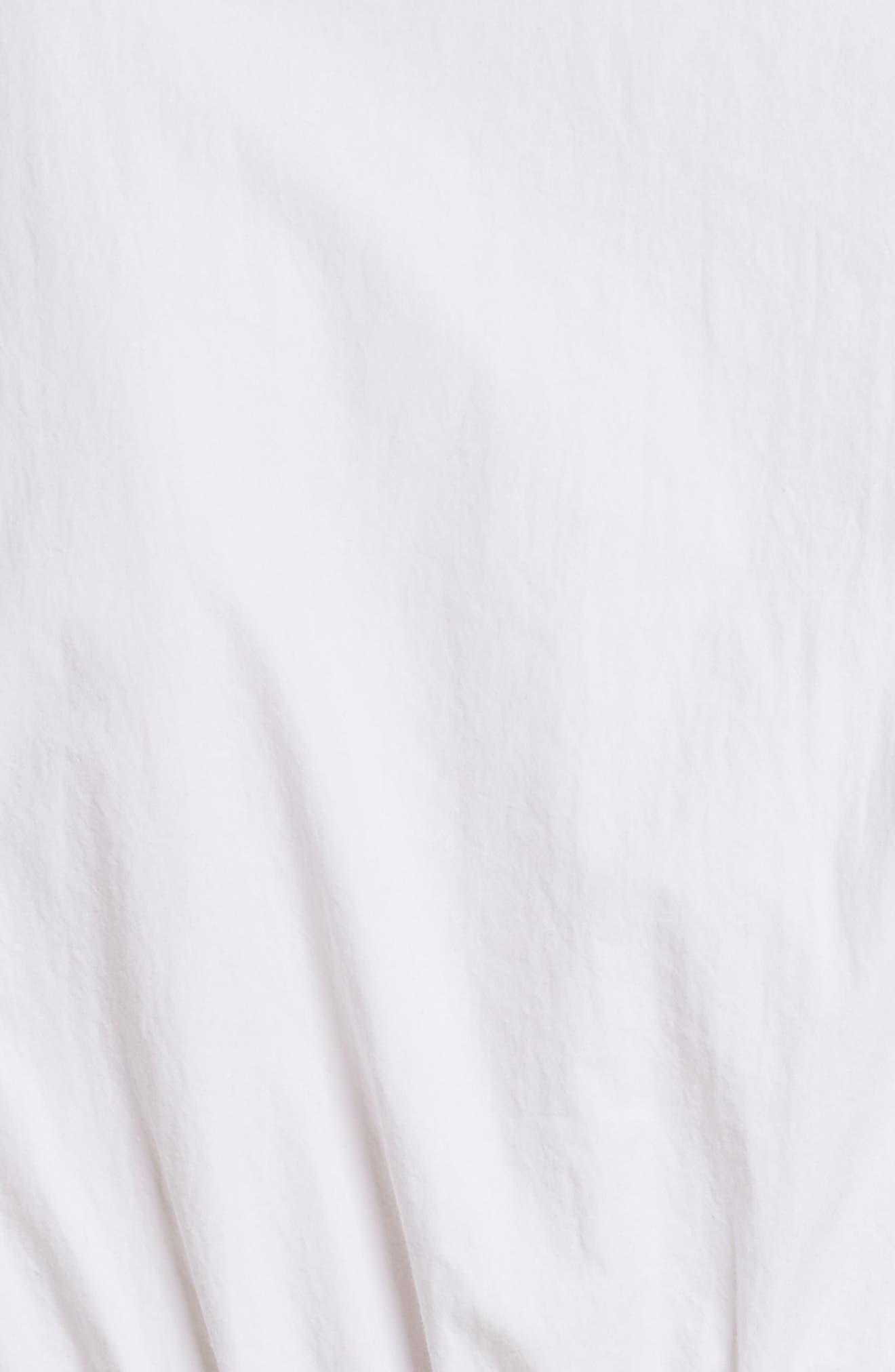 Cotton Poplin Shirtdress,                             Alternate thumbnail 5, color,                             100