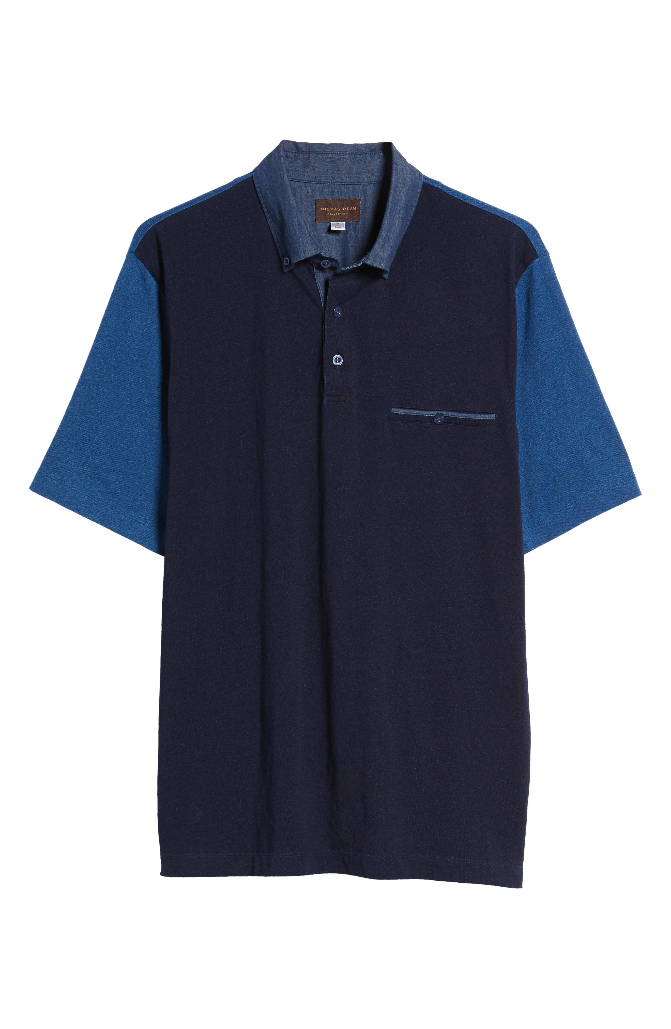 Colorblock Button Down Polo,                             Alternate thumbnail 6, color,                             439