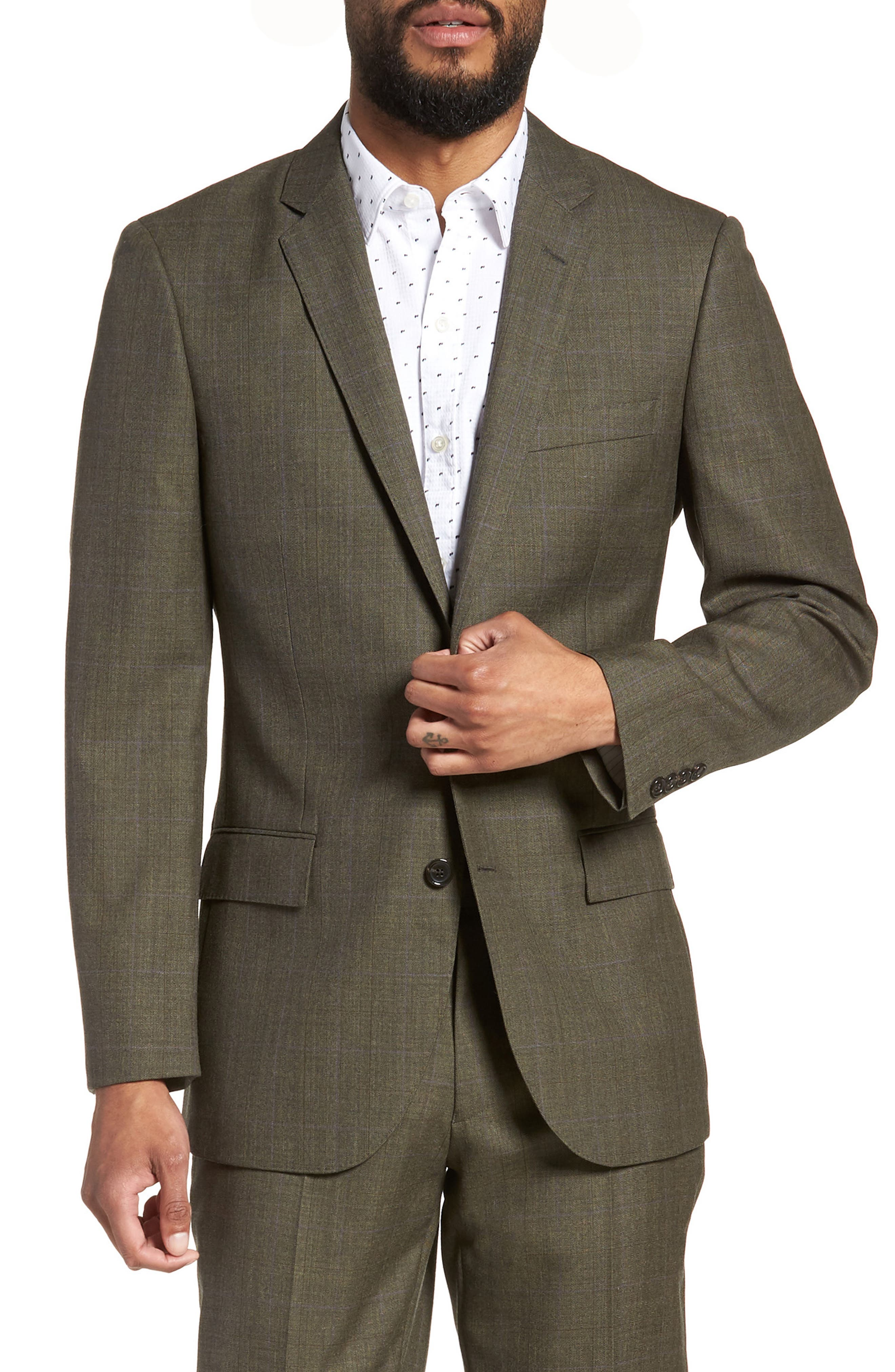 Ludlow Trim Fit Herringbone Wool Sport Coat,                             Main thumbnail 1, color,                             301