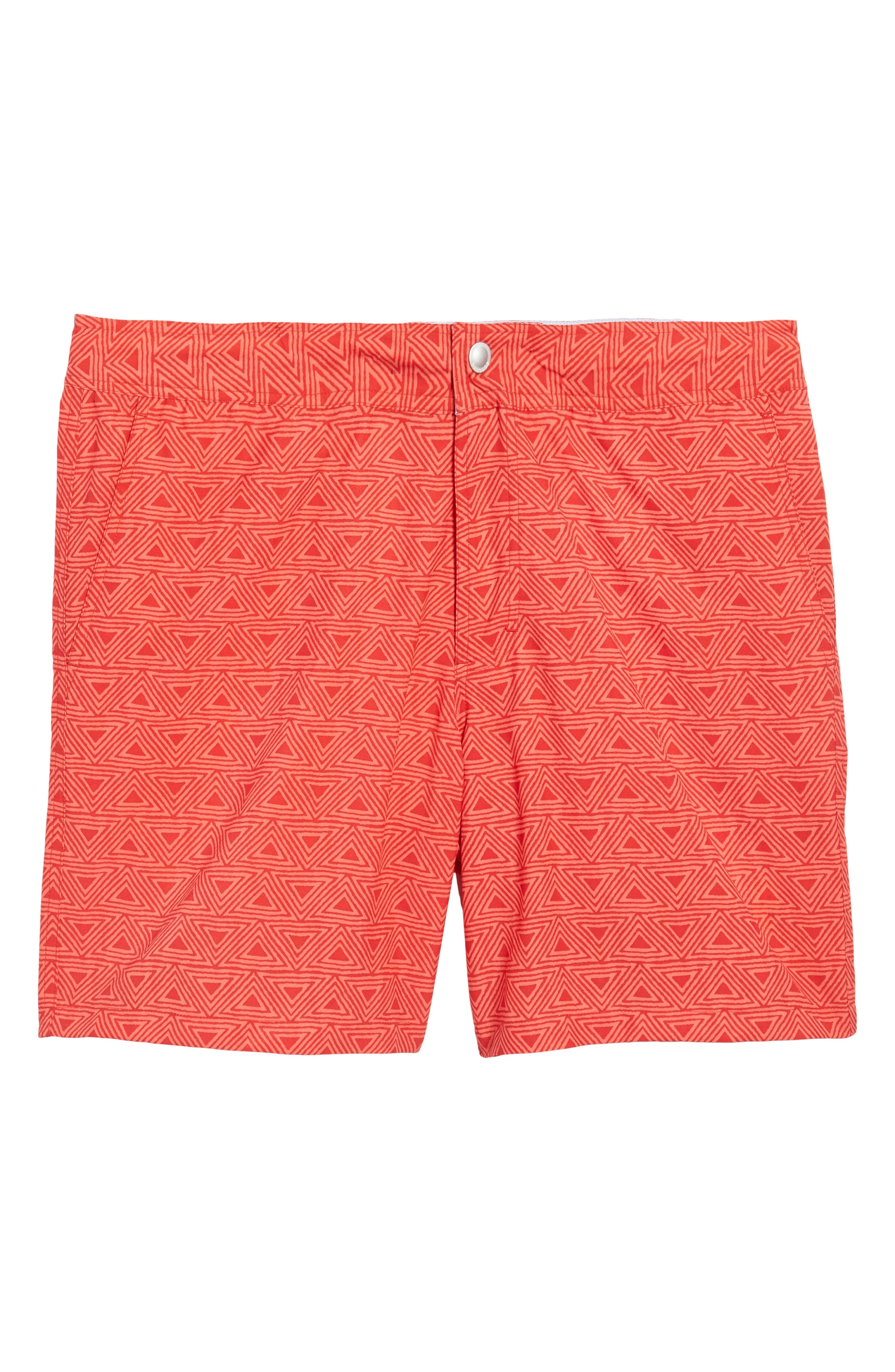 Geo Print 7-Inch Swim Trunks,                             Alternate thumbnail 6, color,                             650
