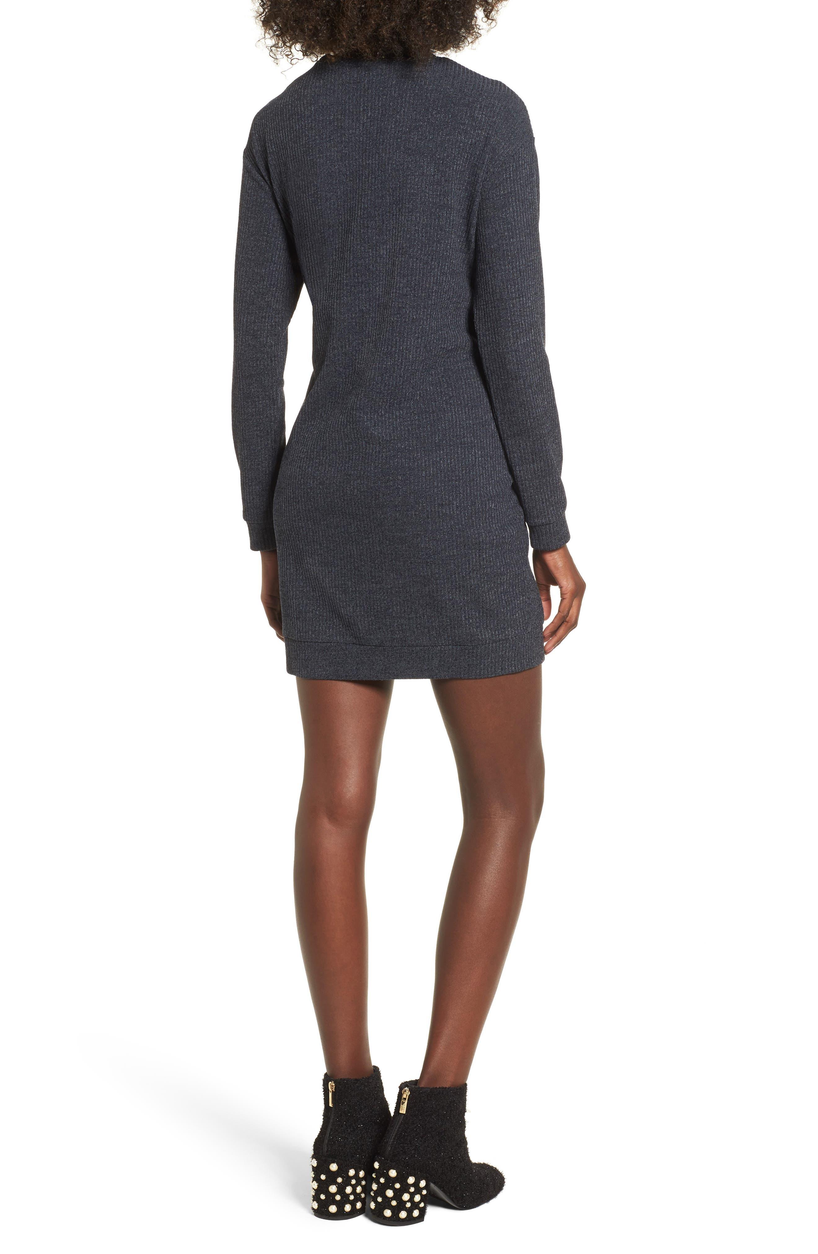 Corset Detail Sweatshirt Dress,                             Alternate thumbnail 2, color,                             020