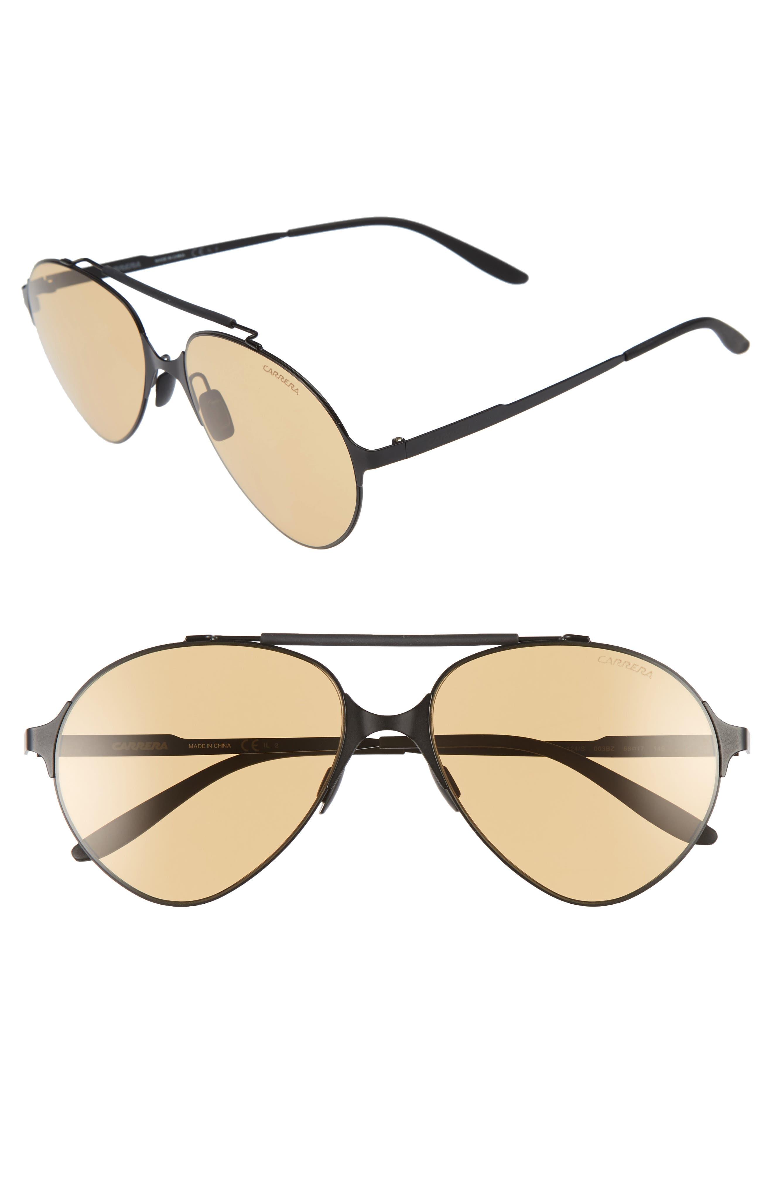 Carrera 58mm Gradient Pilot Sunglasses,                         Main,                         color, 001