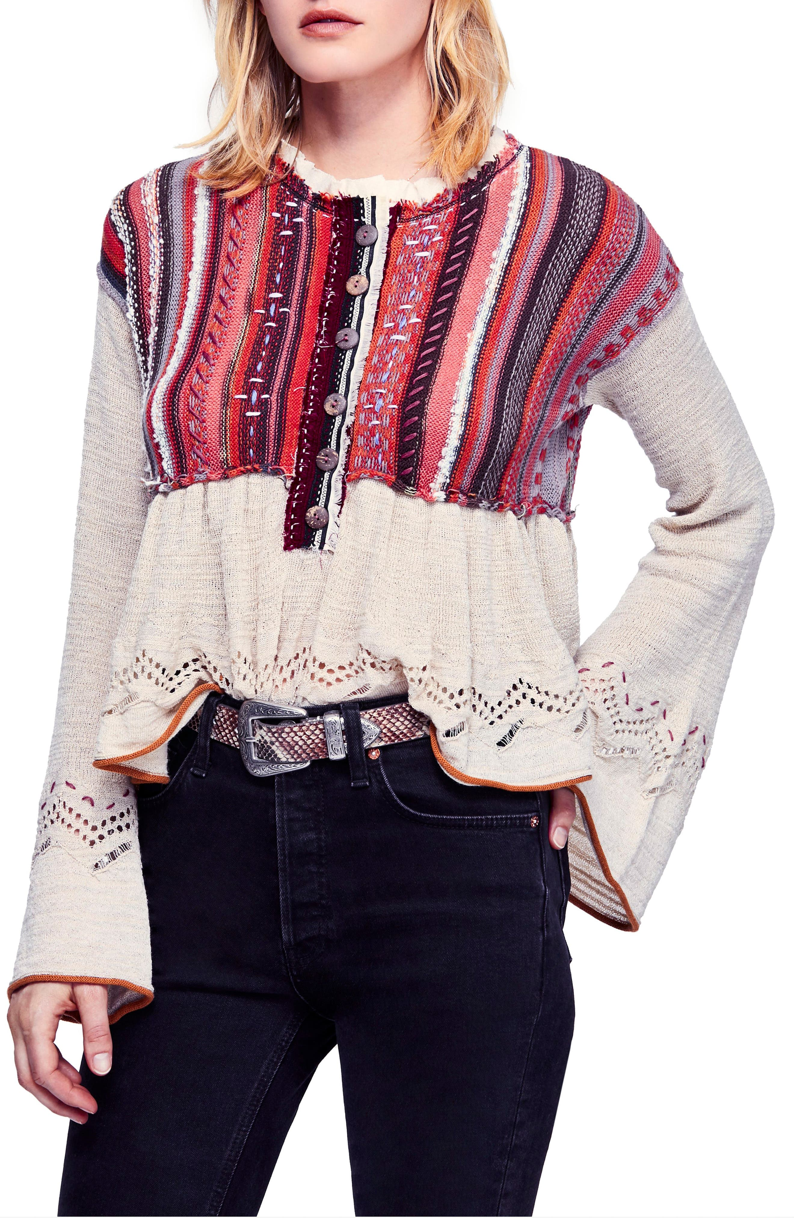 FREE PEOPLE,                             Meadow Lakes Sweater,                             Main thumbnail 1, color,                             903