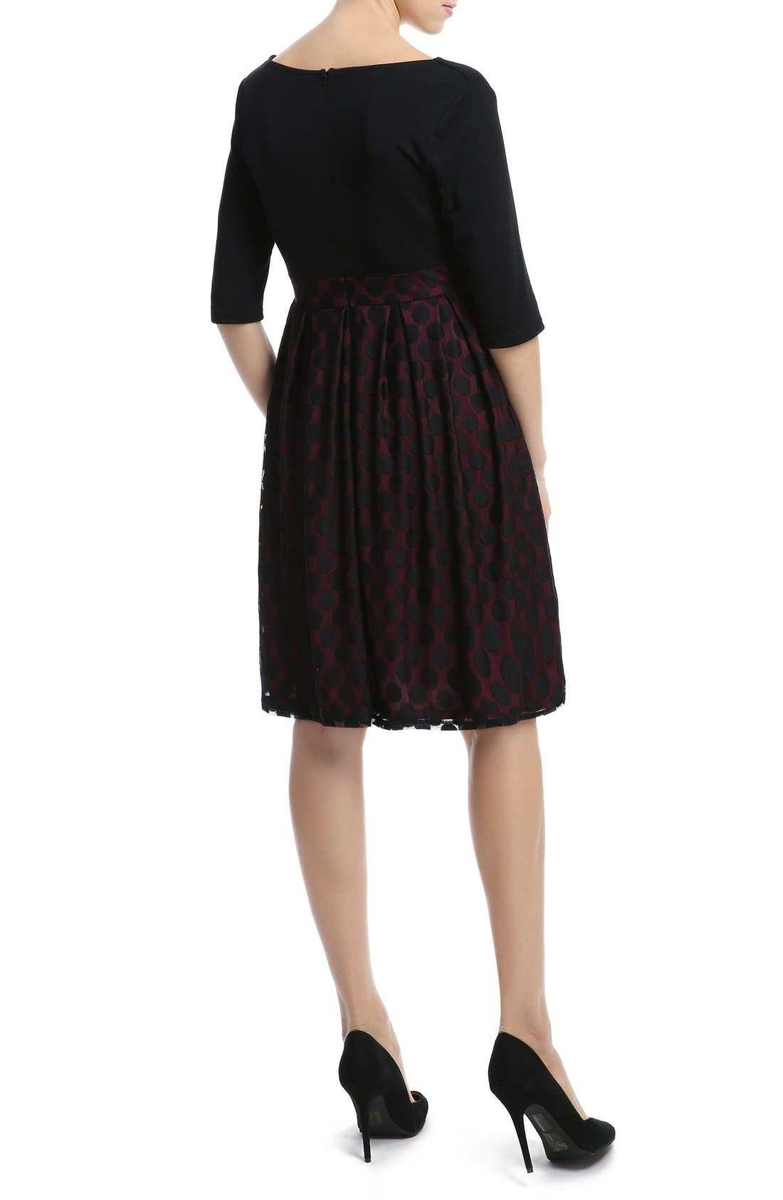 KIMI AND KAI,                             'Liliana' Polka Dot Lace Maternity Dress,                             Alternate thumbnail 2, color,                             003