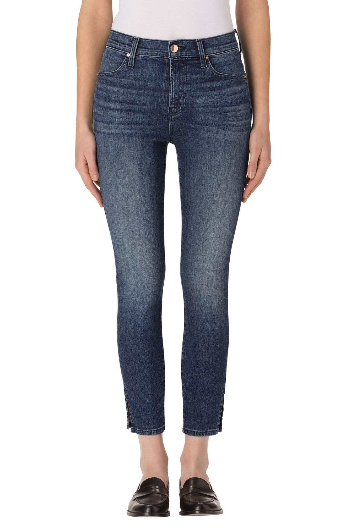 Alana High Waist Crop Skinny Jeans,                             Main thumbnail 1, color,                             403