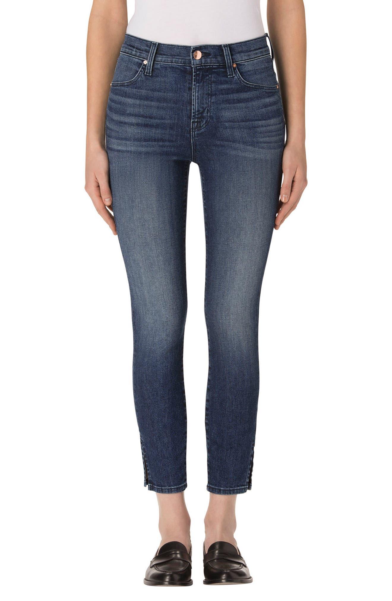 Alana High Waist Crop Skinny Jeans,                         Main,                         color, 403
