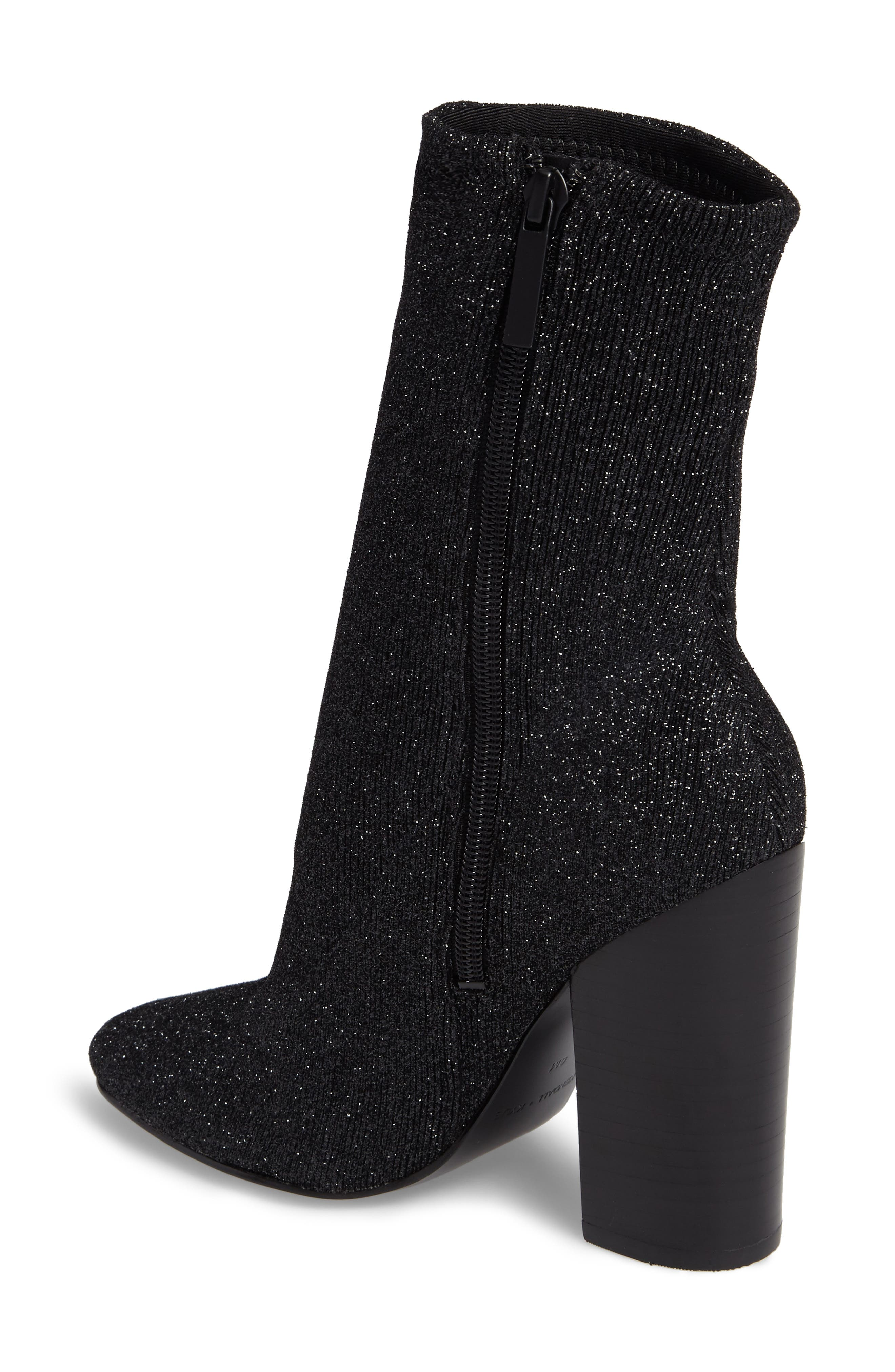 Hailey Glitter Sock Bootie,                             Alternate thumbnail 2, color,                             009