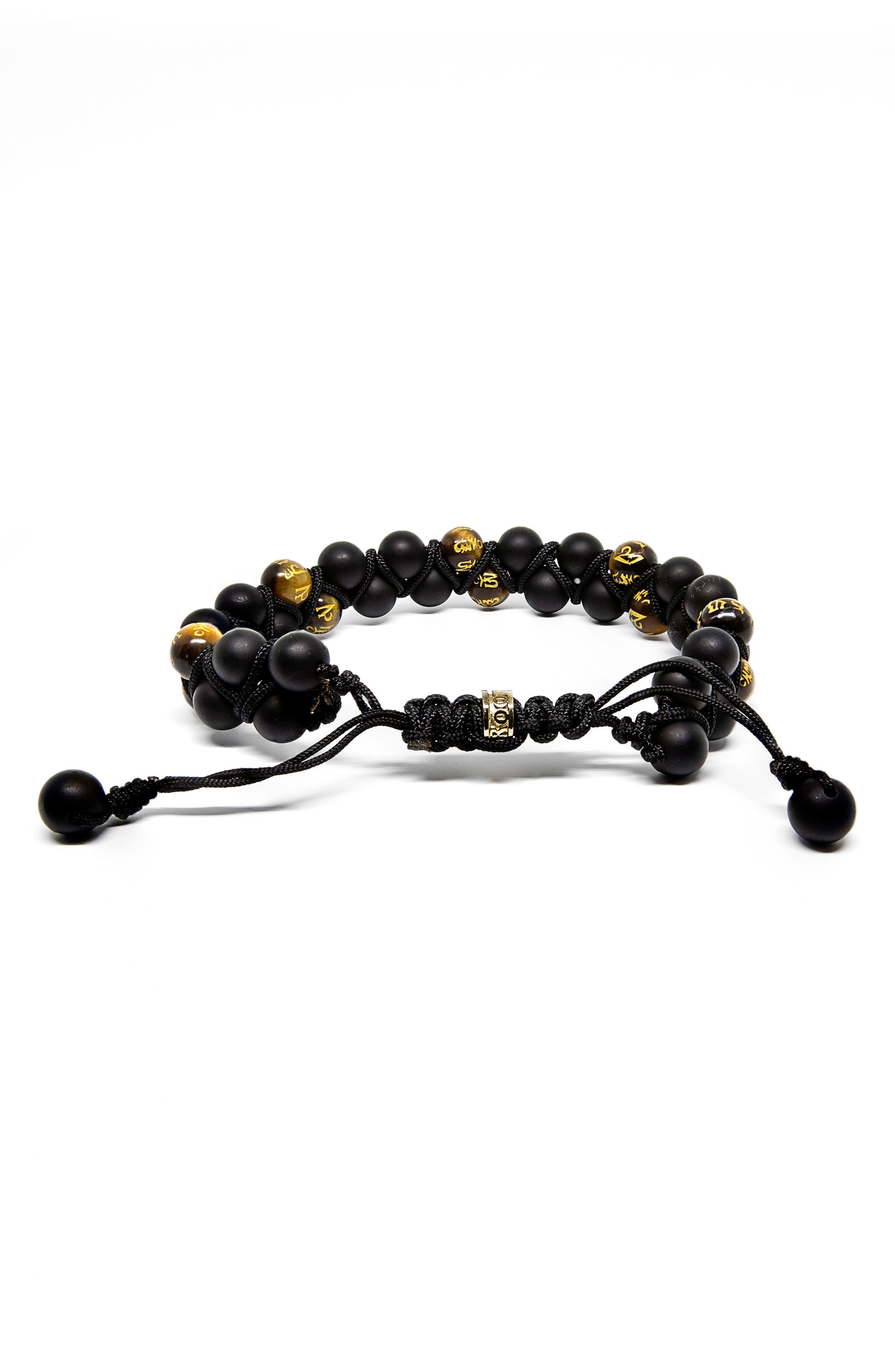 ROOM101,                             Double Row Agate Tiger's Eye Bracelet,                             Main thumbnail 1, color,                             001