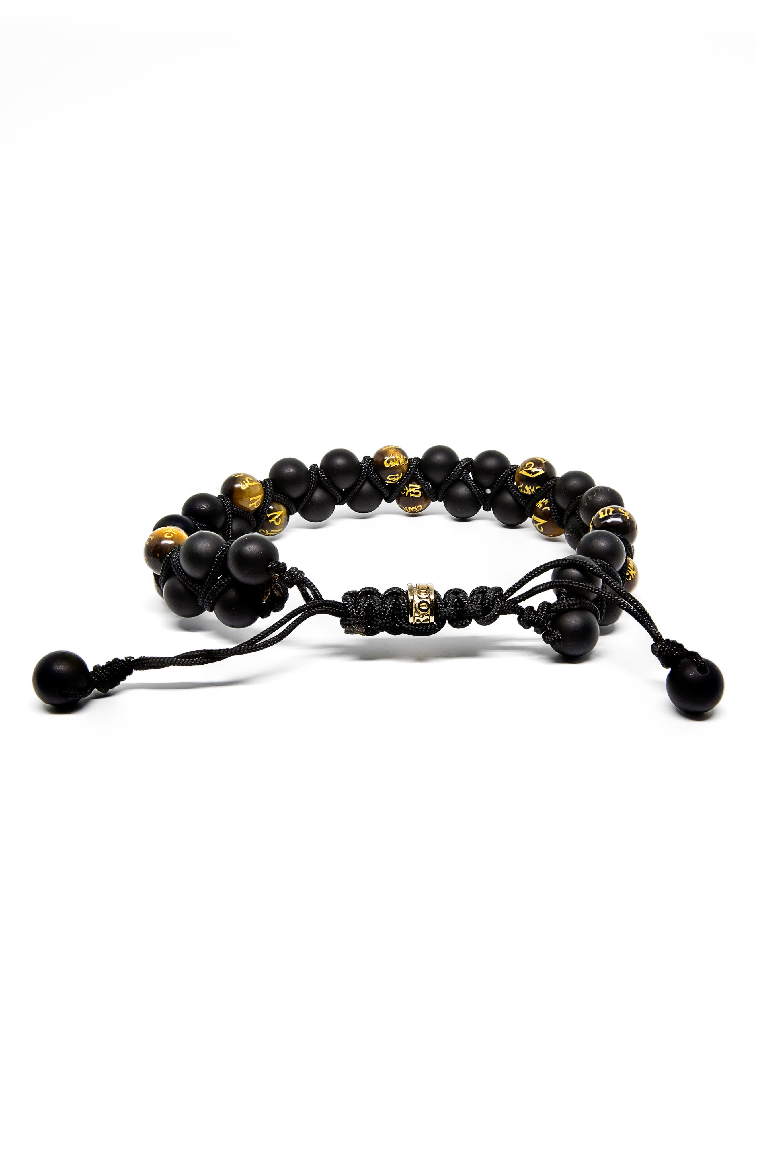 ROOM101 Double Row Agate Tiger's Eye Bracelet, Main, color, 001
