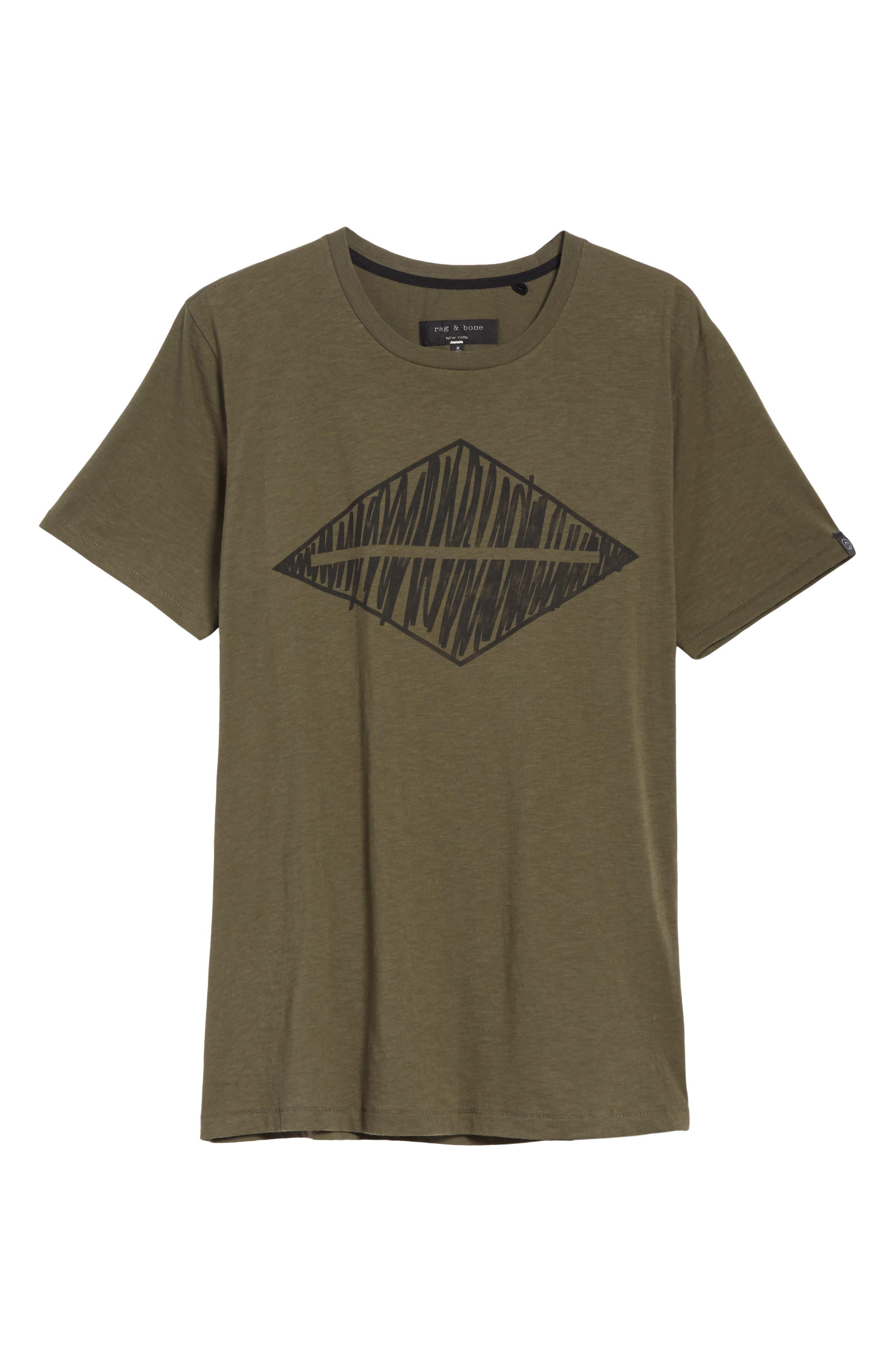 Diamond Graphic T-Shirt,                             Alternate thumbnail 6, color,                             319