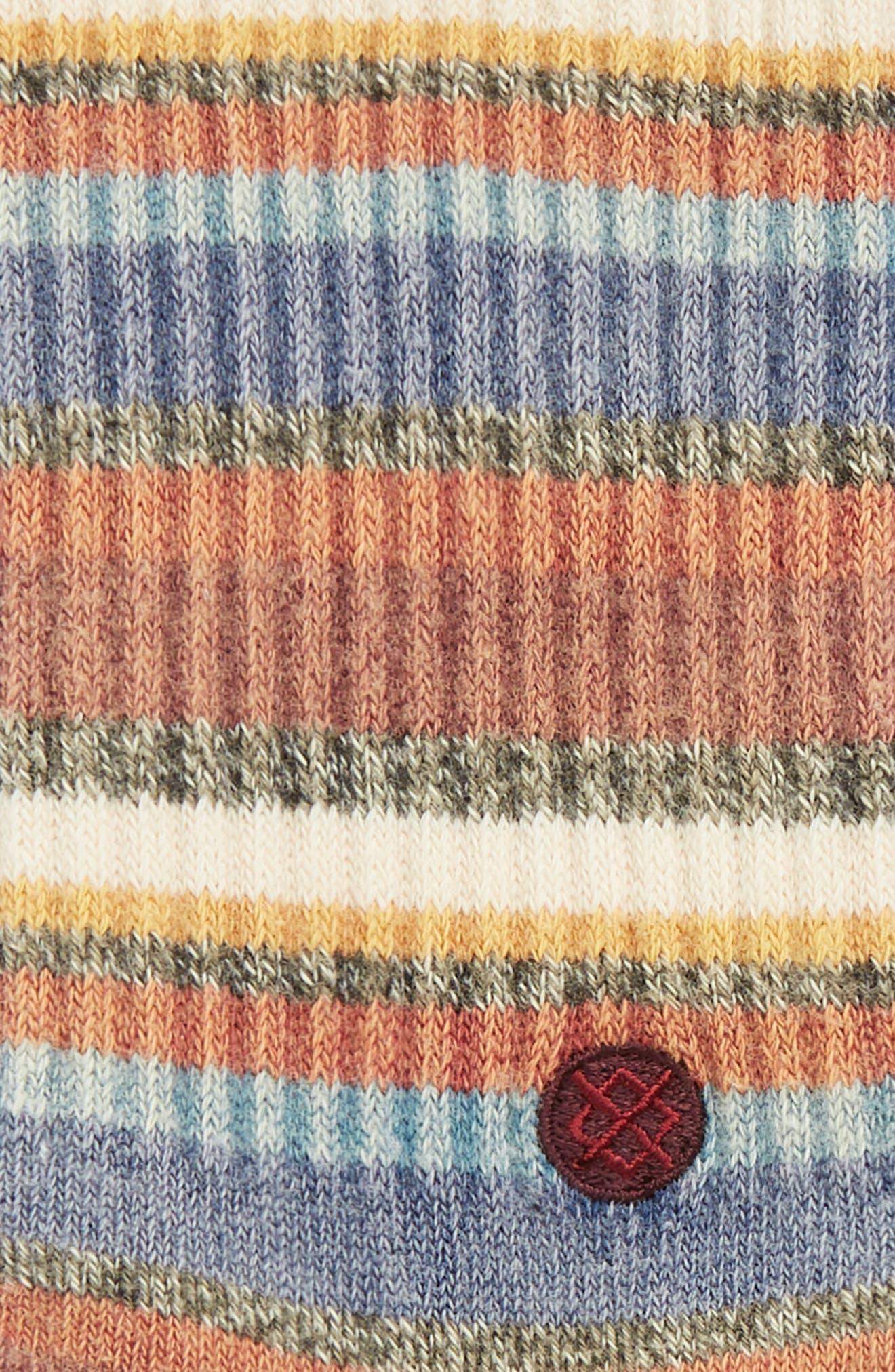 Riot Striped Socks,                             Alternate thumbnail 2, color,                             MAROON