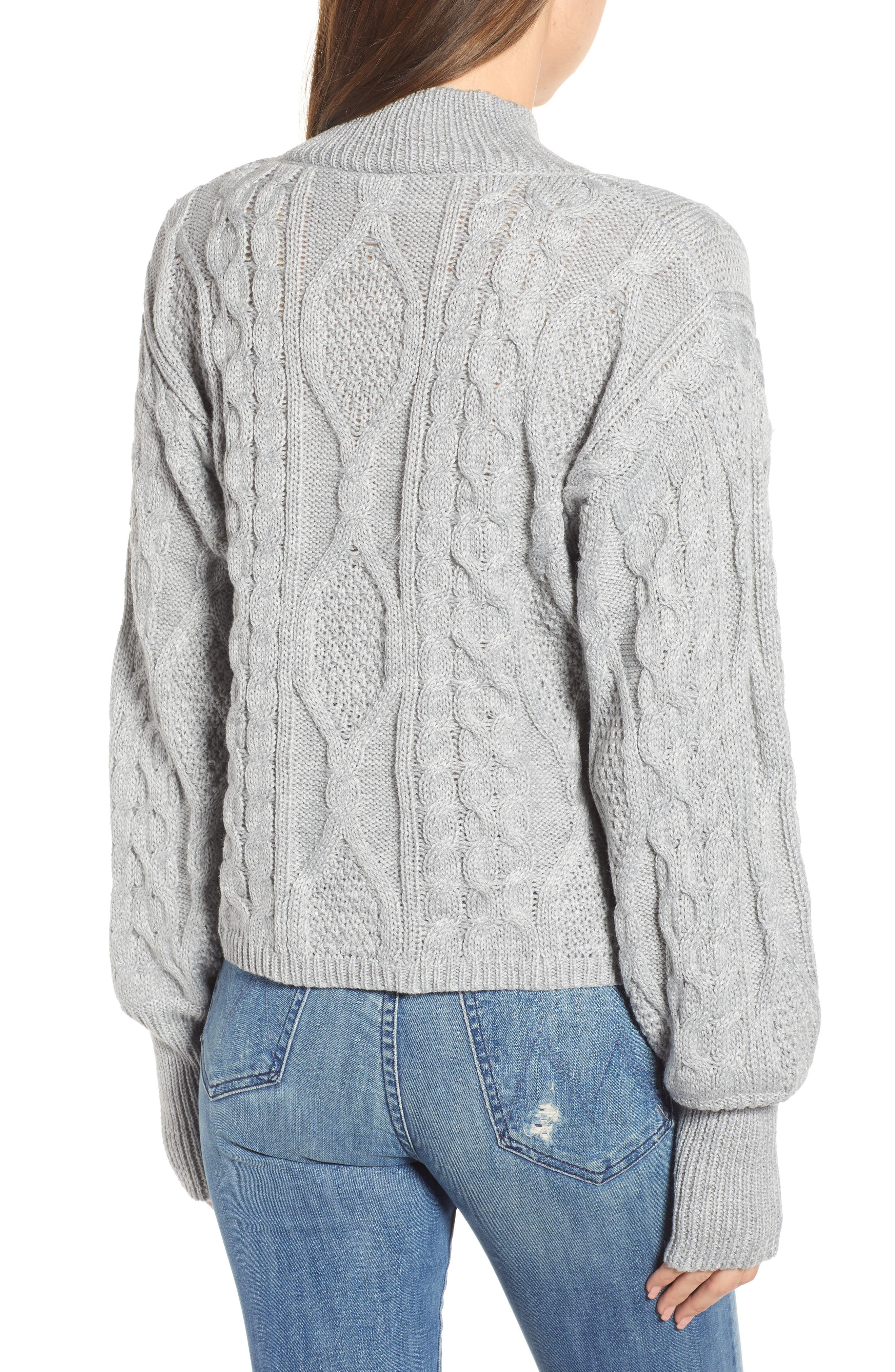 Dusk Till Dawn Cable Sweater,                             Alternate thumbnail 2, color,                             GREY