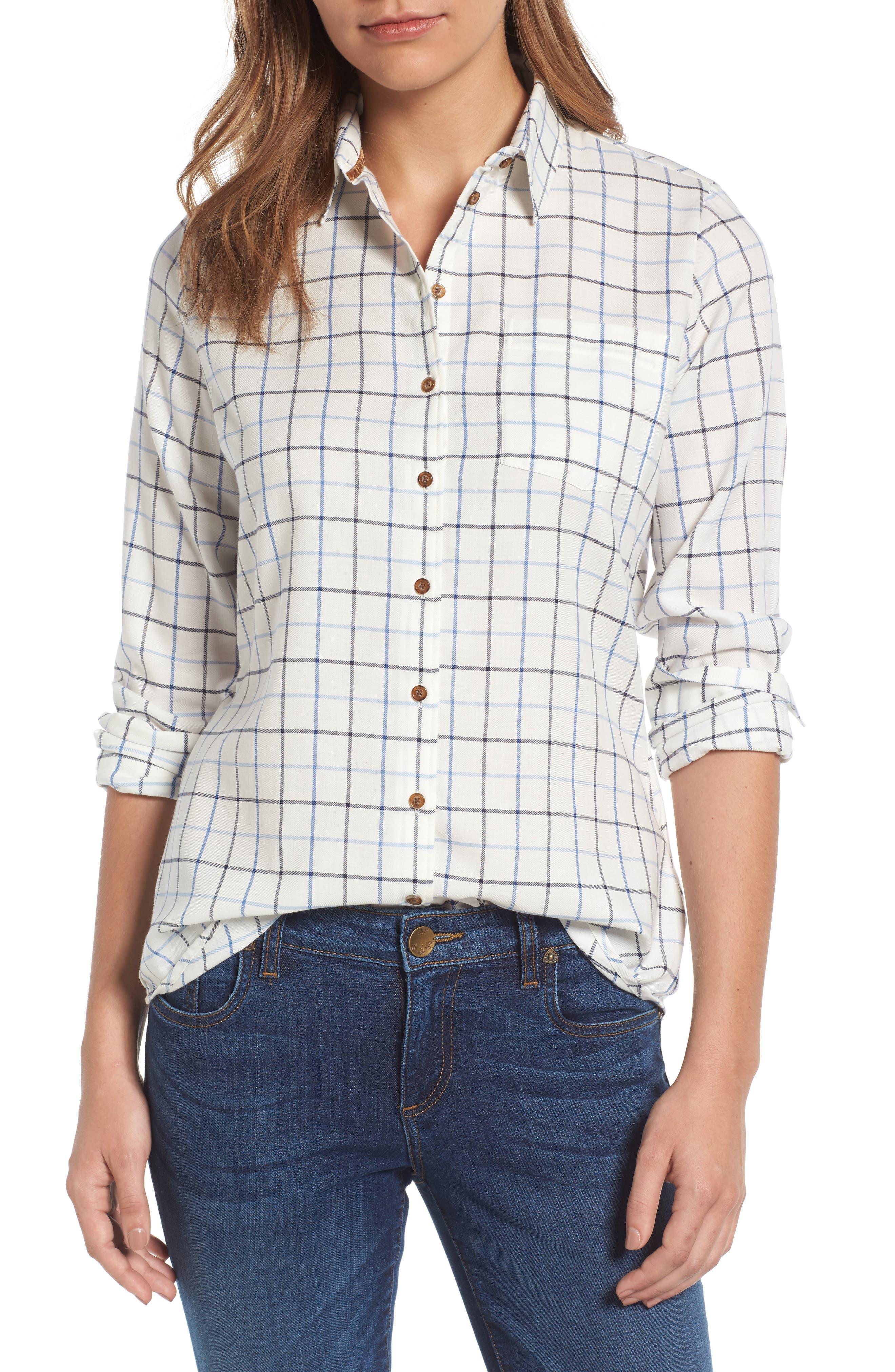 Triplebar Check Shirt,                         Main,                         color, 450