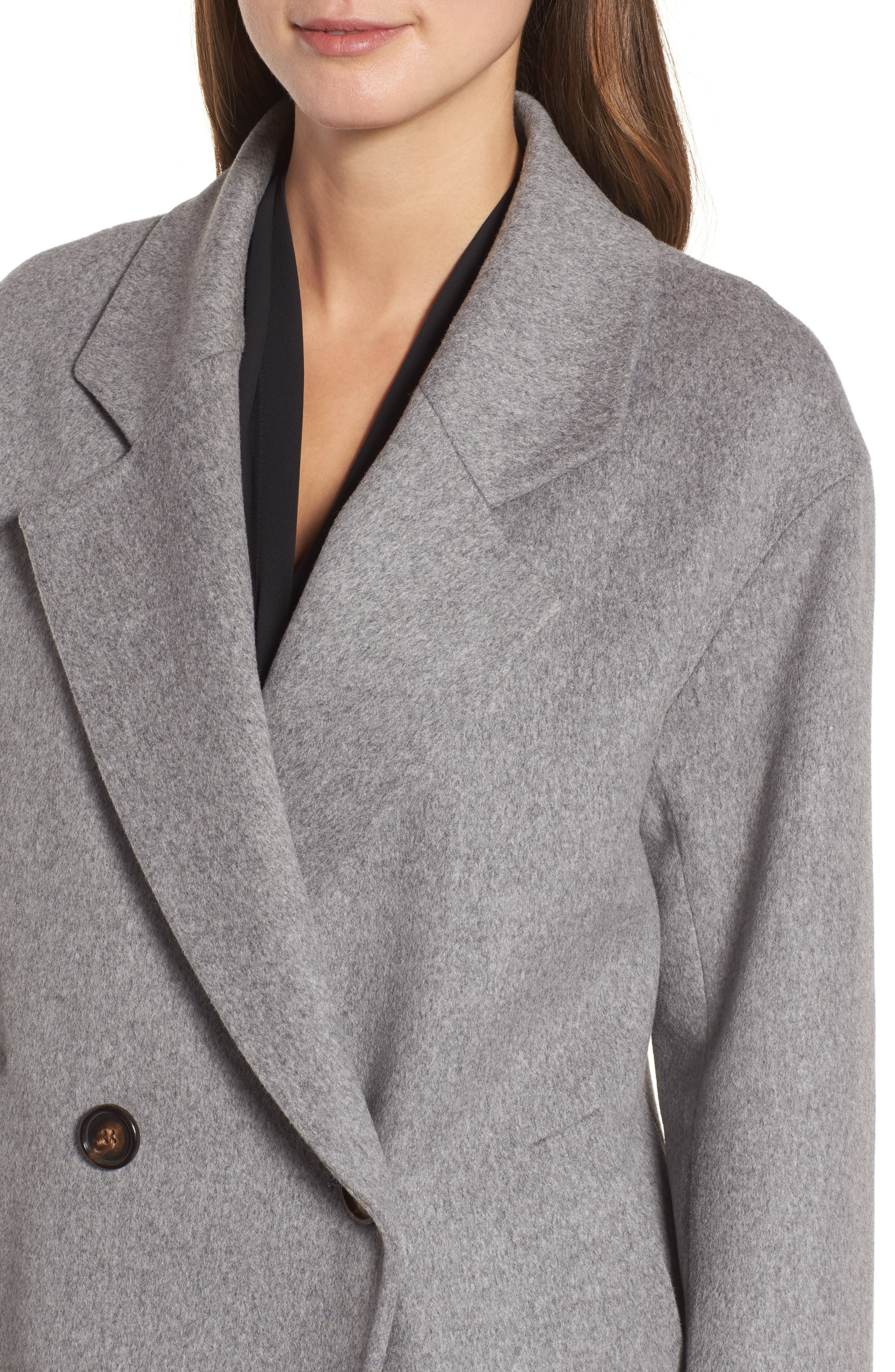 45 Loro Piana Wool Coat,                             Alternate thumbnail 4, color,                             080