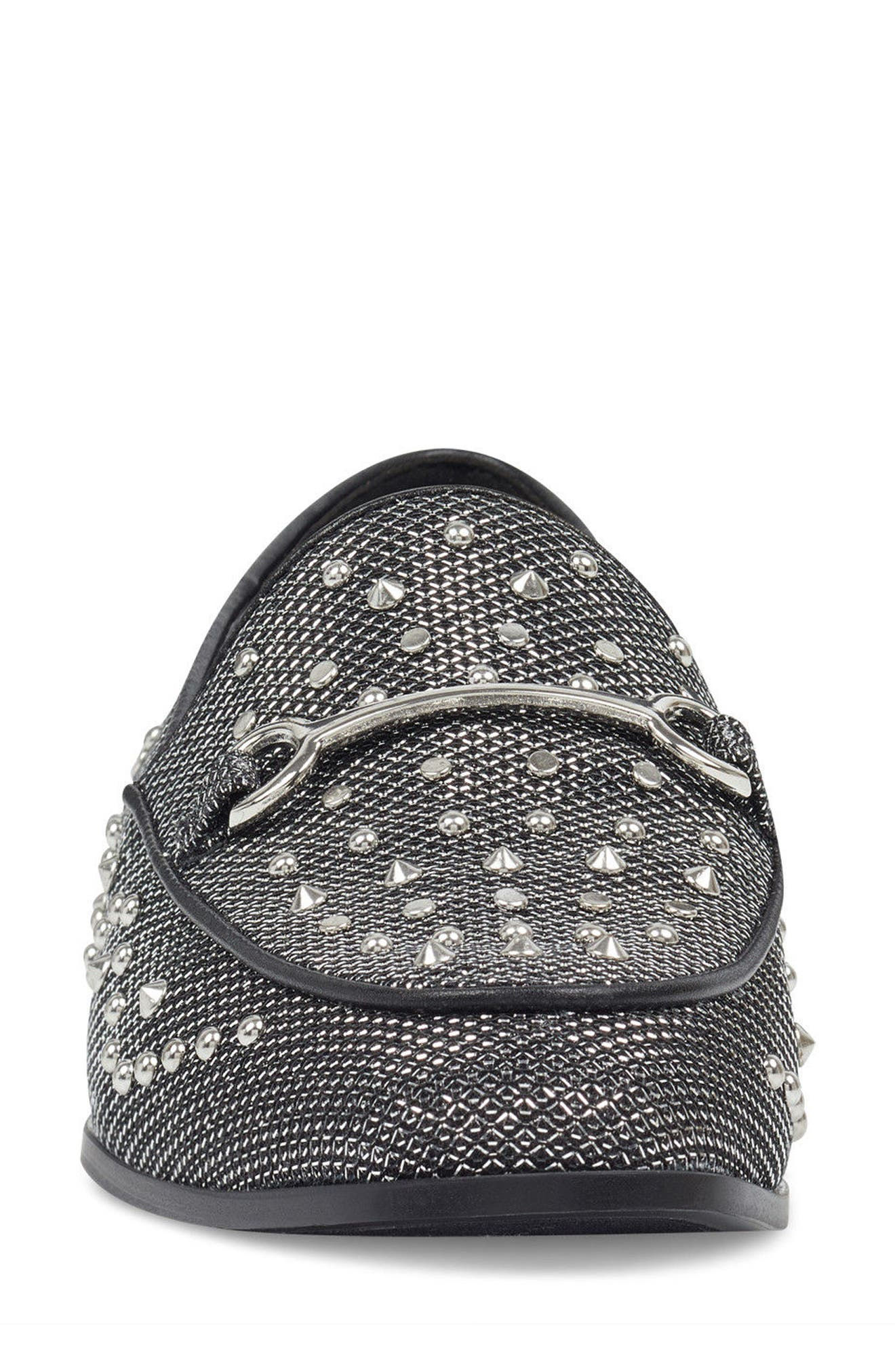 Westoy Studded Loafer,                             Alternate thumbnail 4, color,                             001