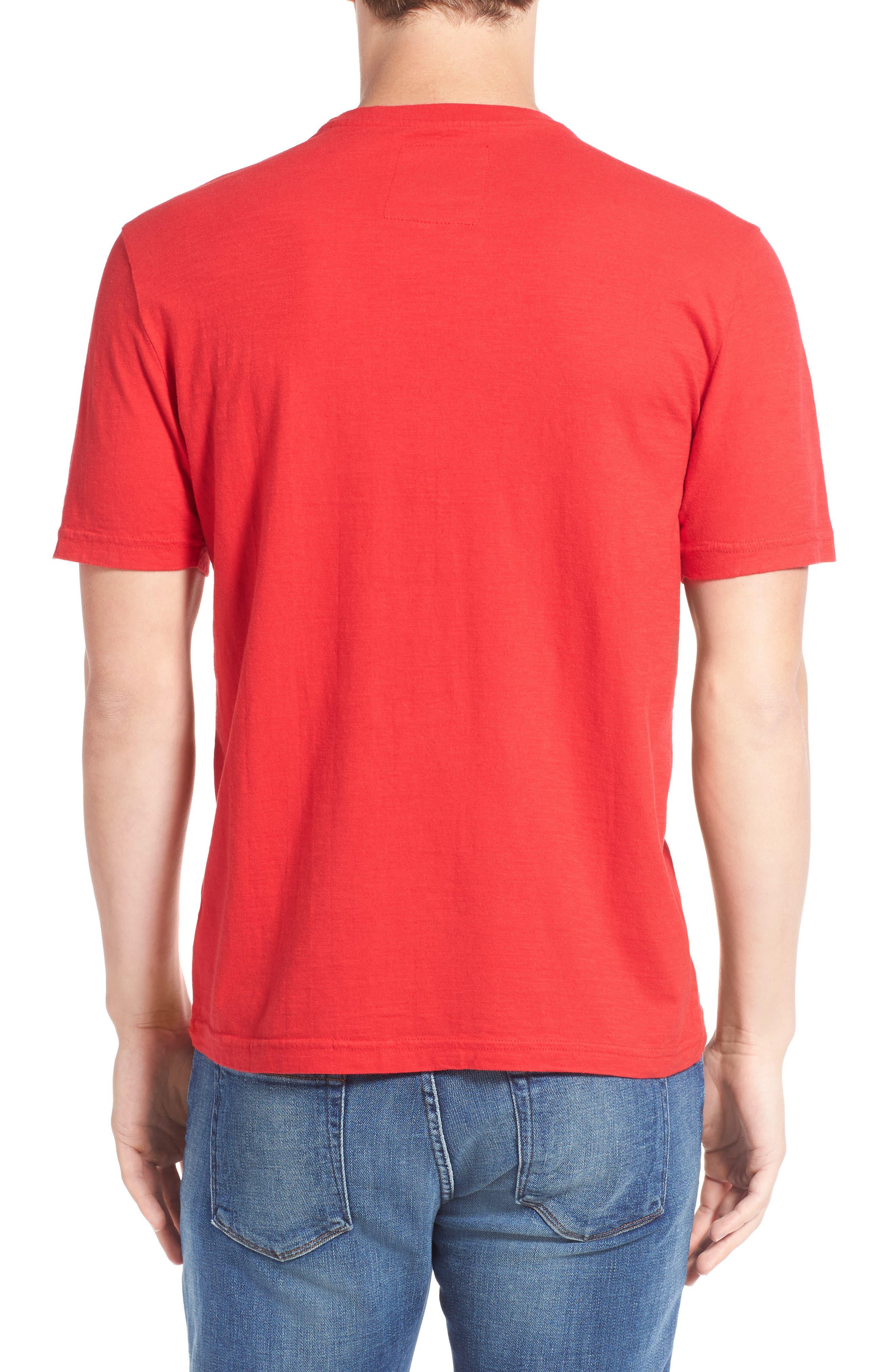 'Cincinnati Reds - Twofold' Crewneck T-Shirt,                             Alternate thumbnail 5, color,                             600