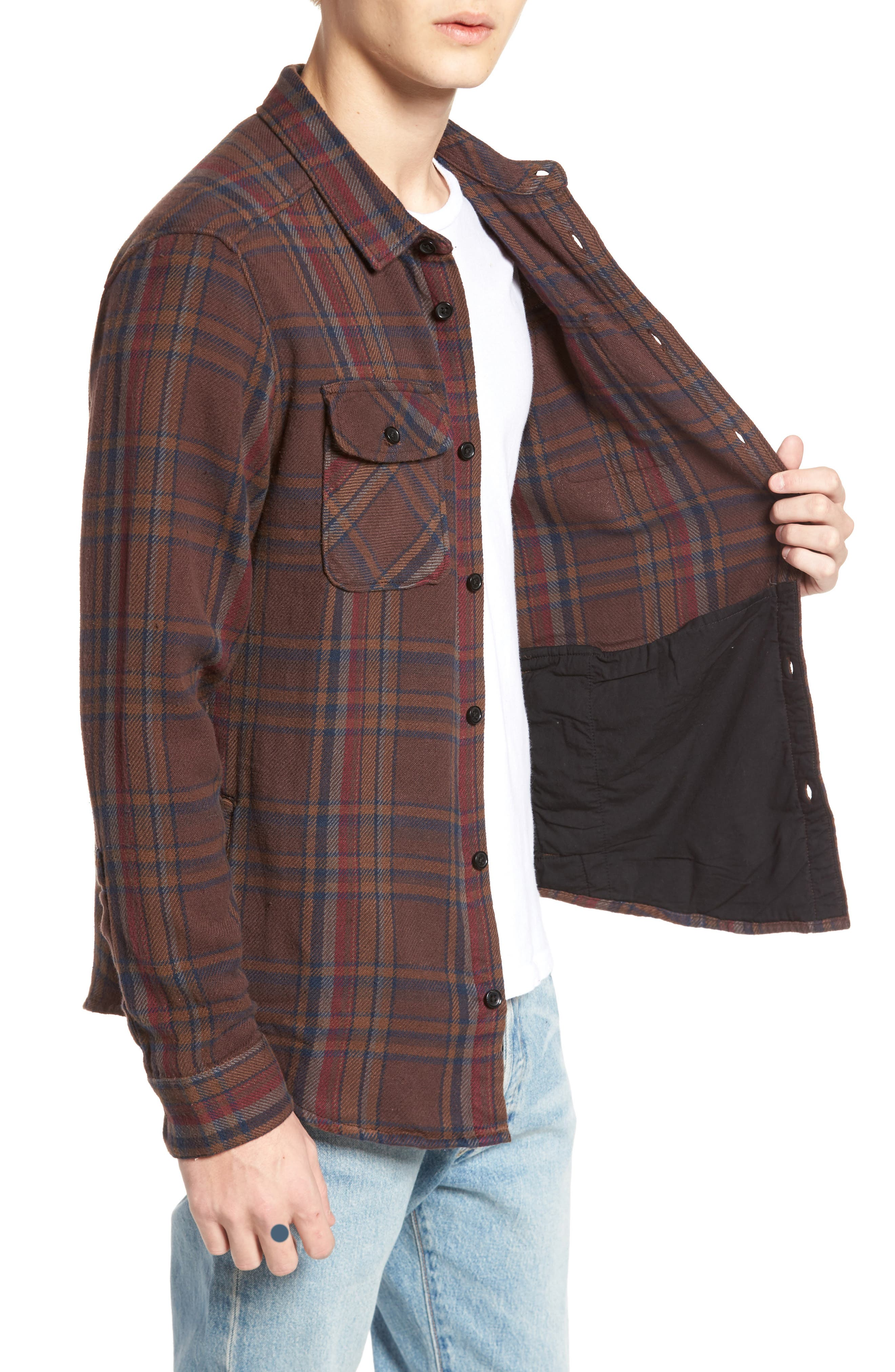 Camino Flannel Shirt,                             Alternate thumbnail 3, color,                             203