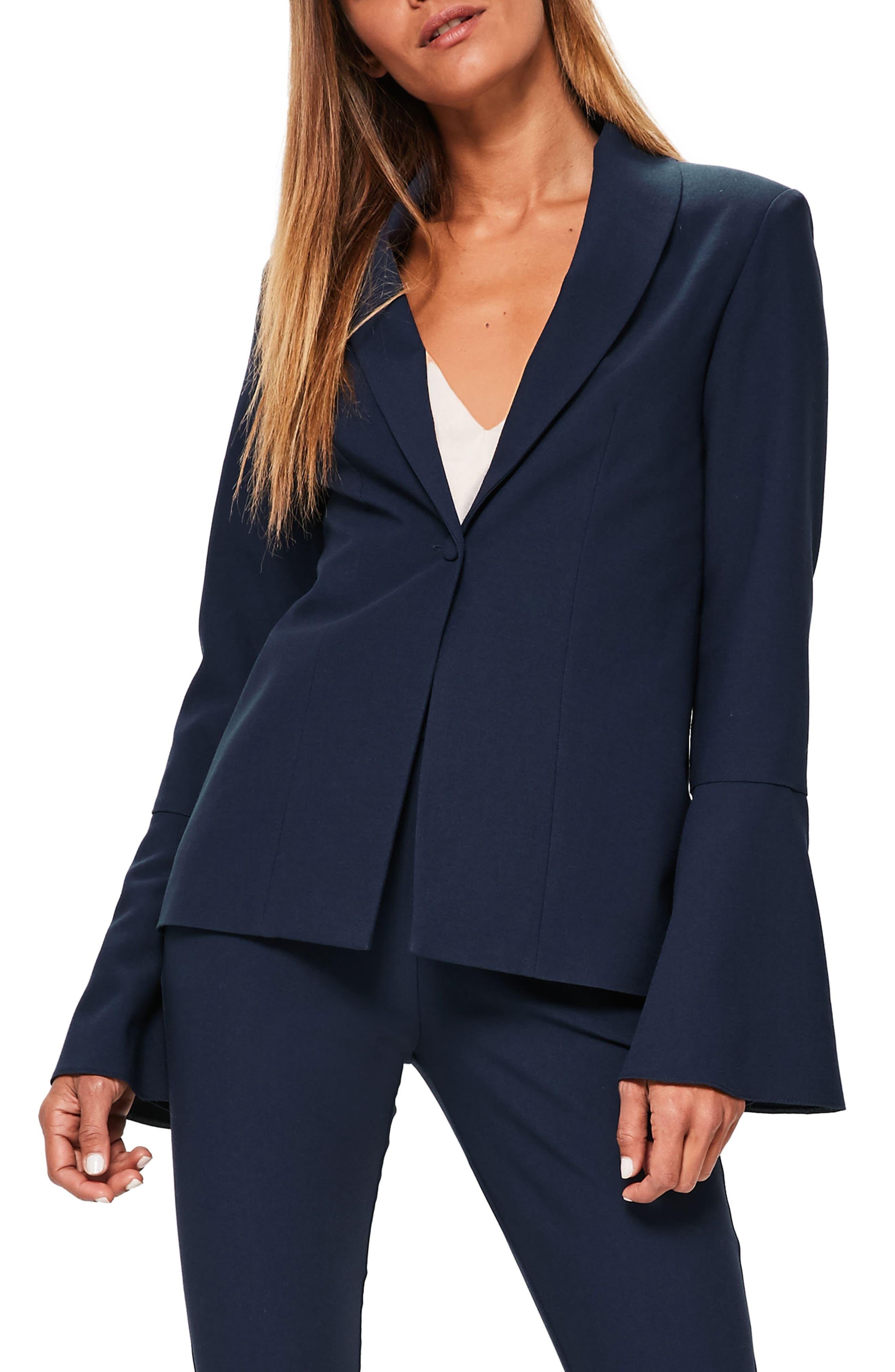 Bell Sleeve Blazer, Main, color, 410