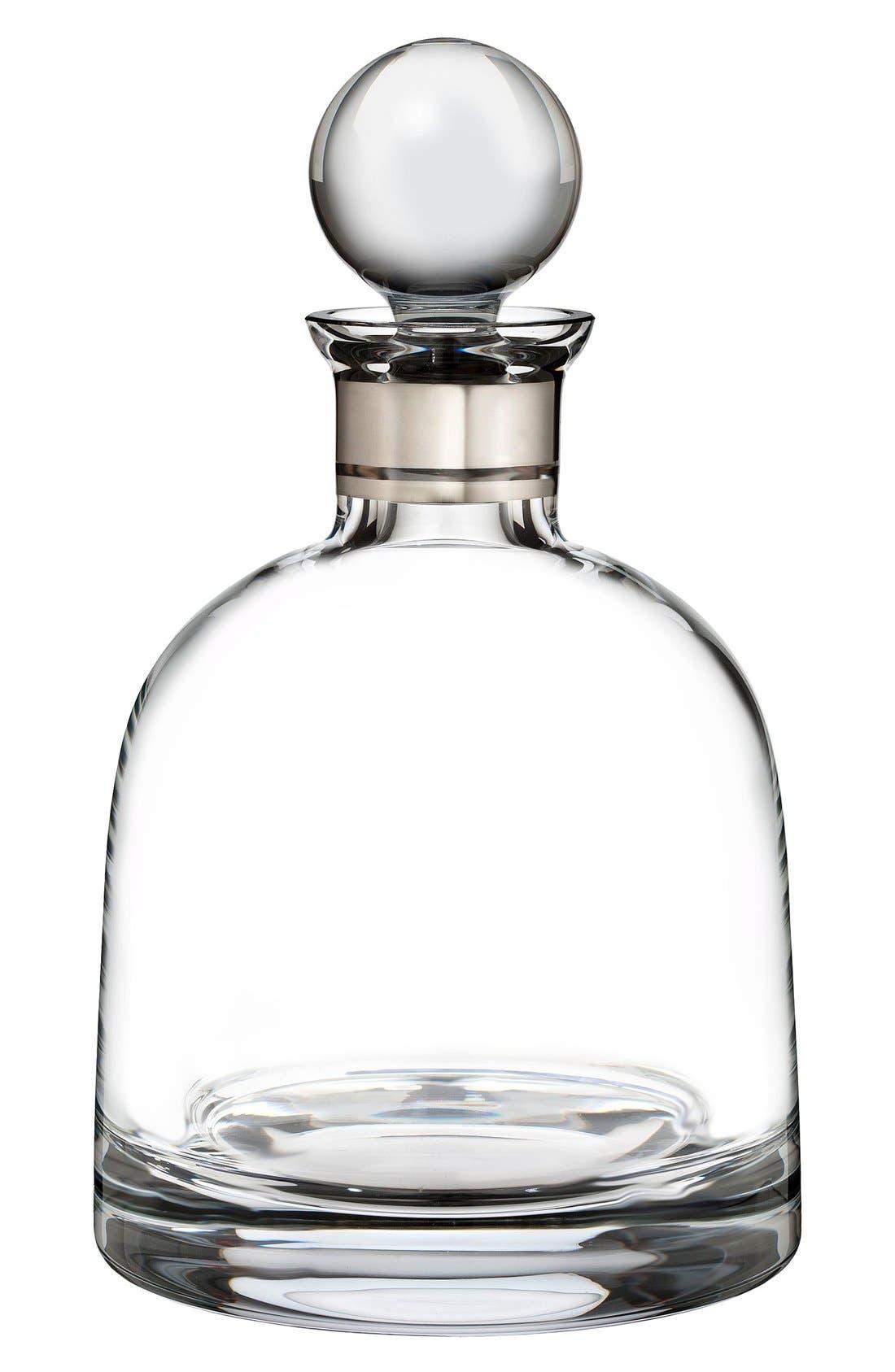 'Elegance' Fine Crystal Decanter & Stopper,                         Main,                         color, 100