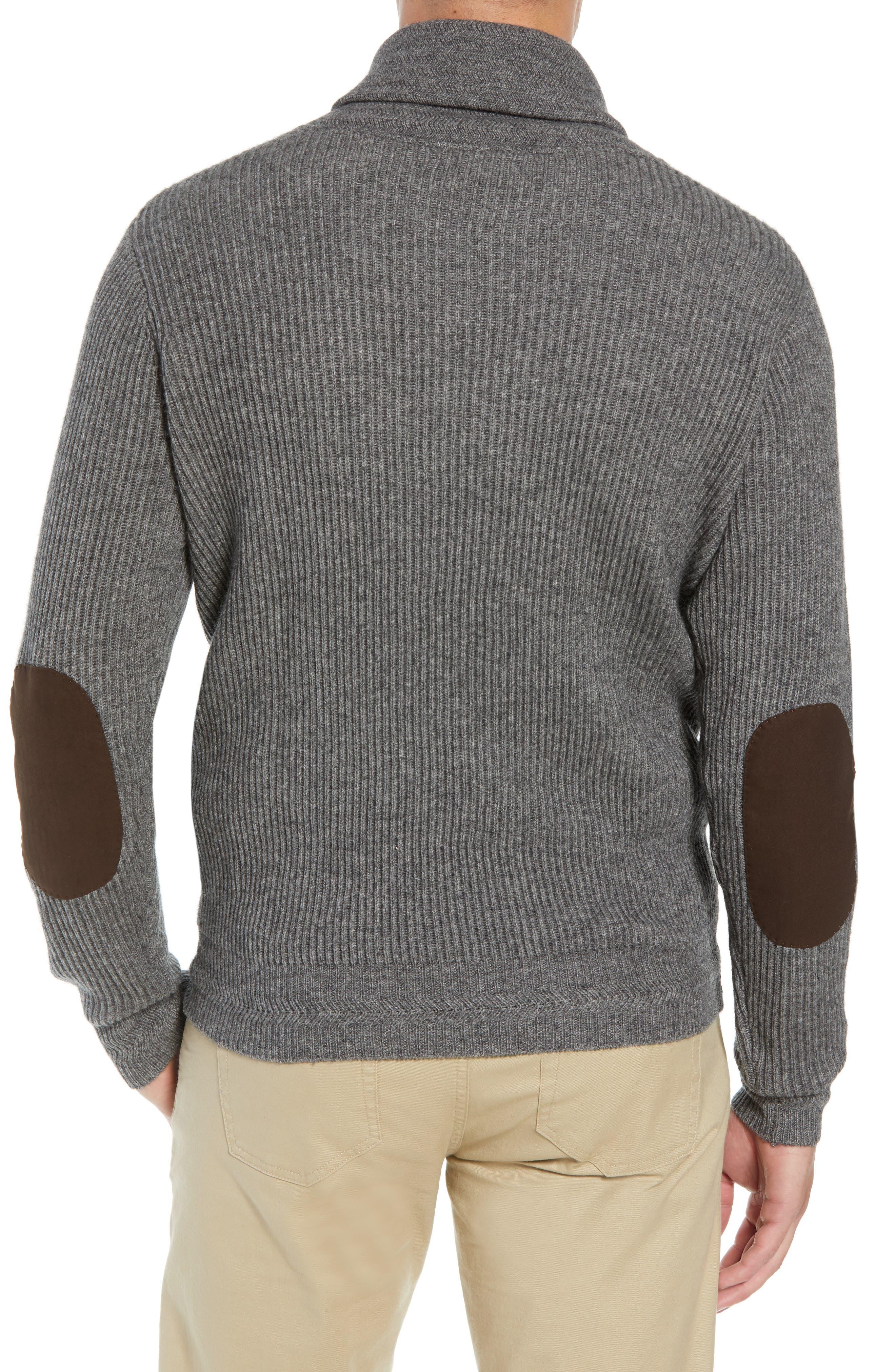 Mountainside Wool Blend Shawl Sweater,                             Alternate thumbnail 2, color,                             GREY