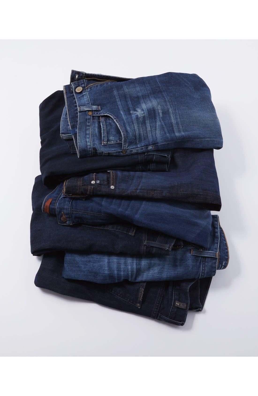 'Graduate' Tailored Fit Straight Leg Jeans,                             Alternate thumbnail 5, color,                             409