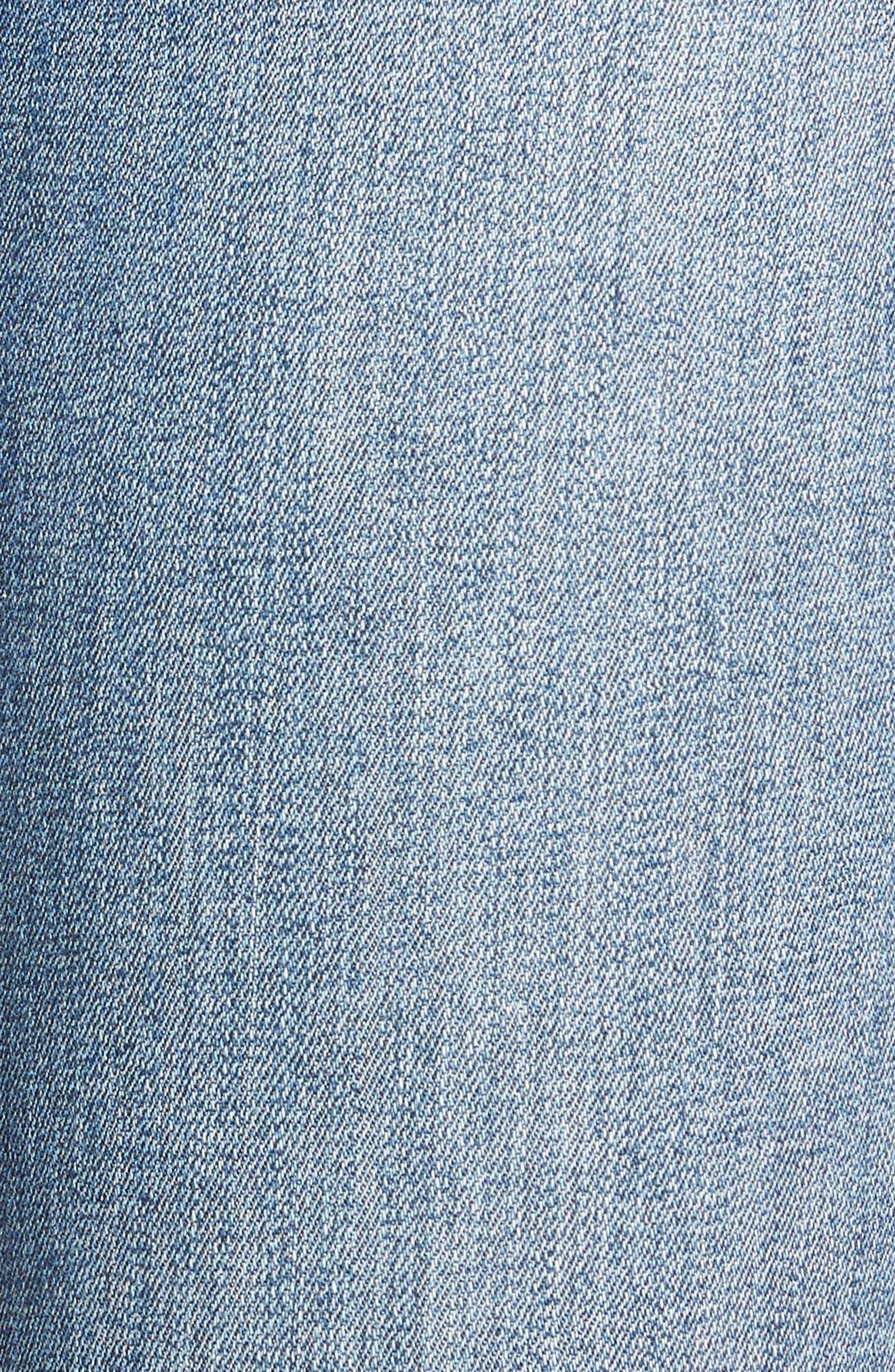 Decon Raw Edge High Waist Skinny Jeans,                             Alternate thumbnail 5, color,                             420