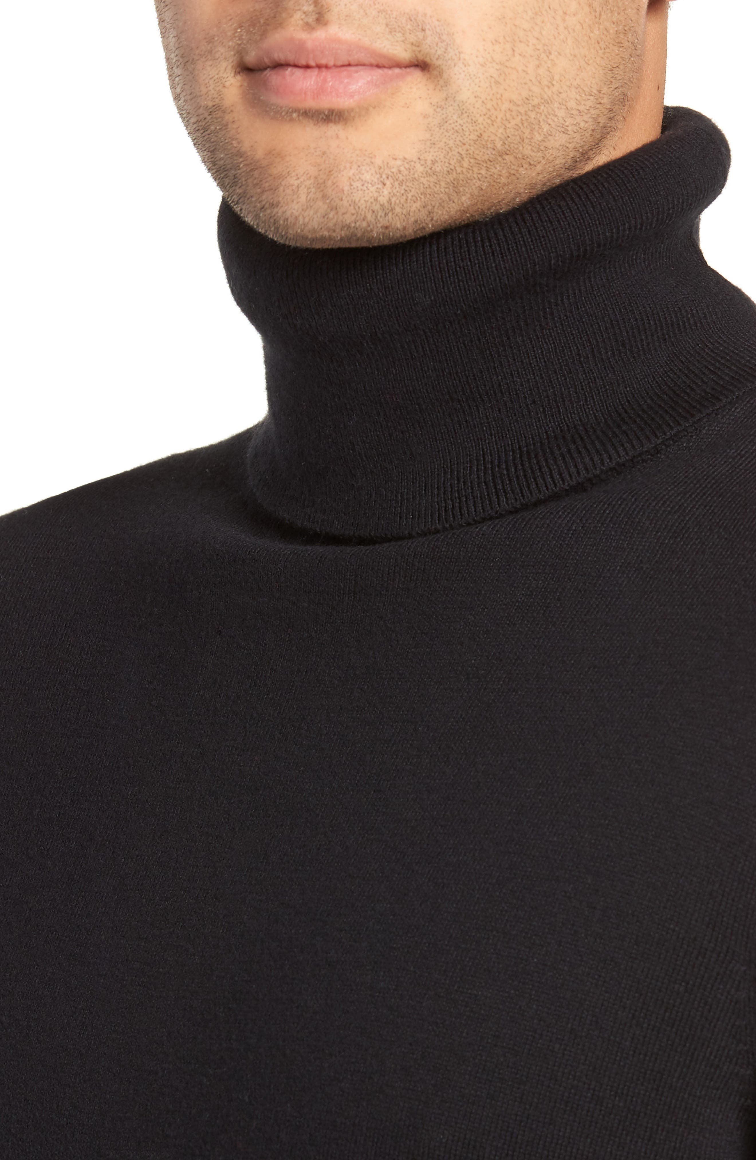 Turtleneck Sweater,                             Alternate thumbnail 4, color,                             001
