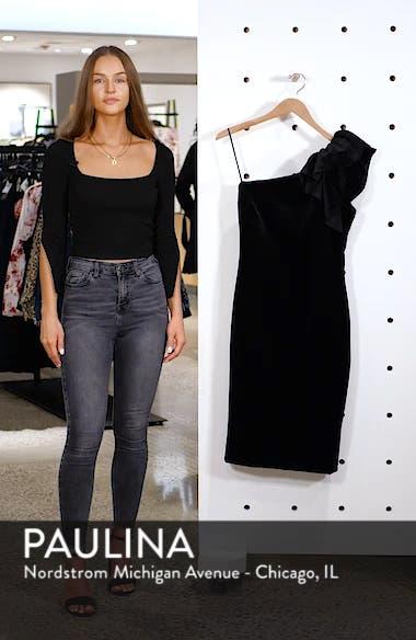 One-Shoulder Velvet Sheath Dress, sales video thumbnail