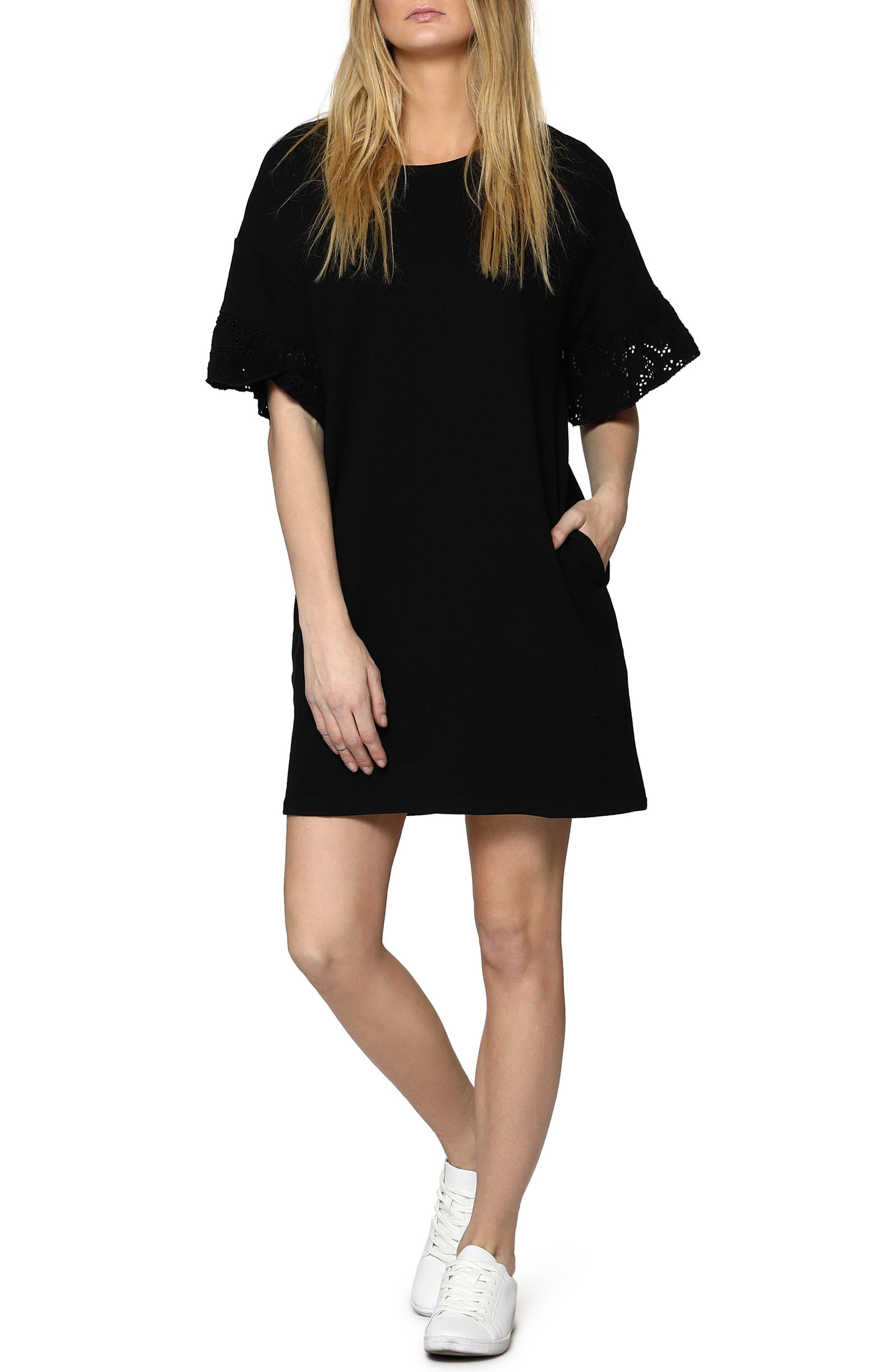 Tamara Knit Shift Dress,                             Main thumbnail 1, color,                             001