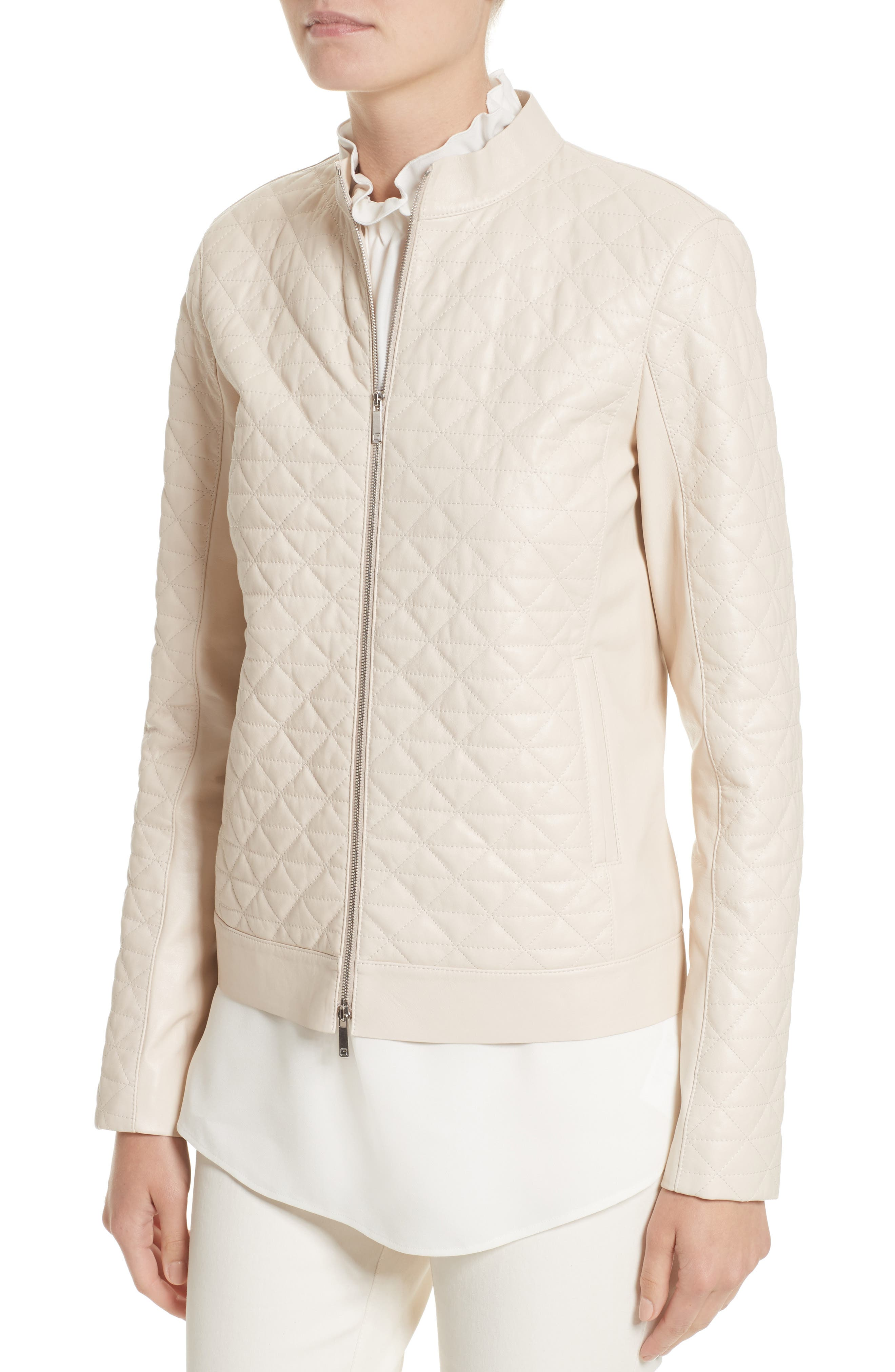 Becks Quilted Lambskin Leather Moto Jacket,                             Alternate thumbnail 8, color,