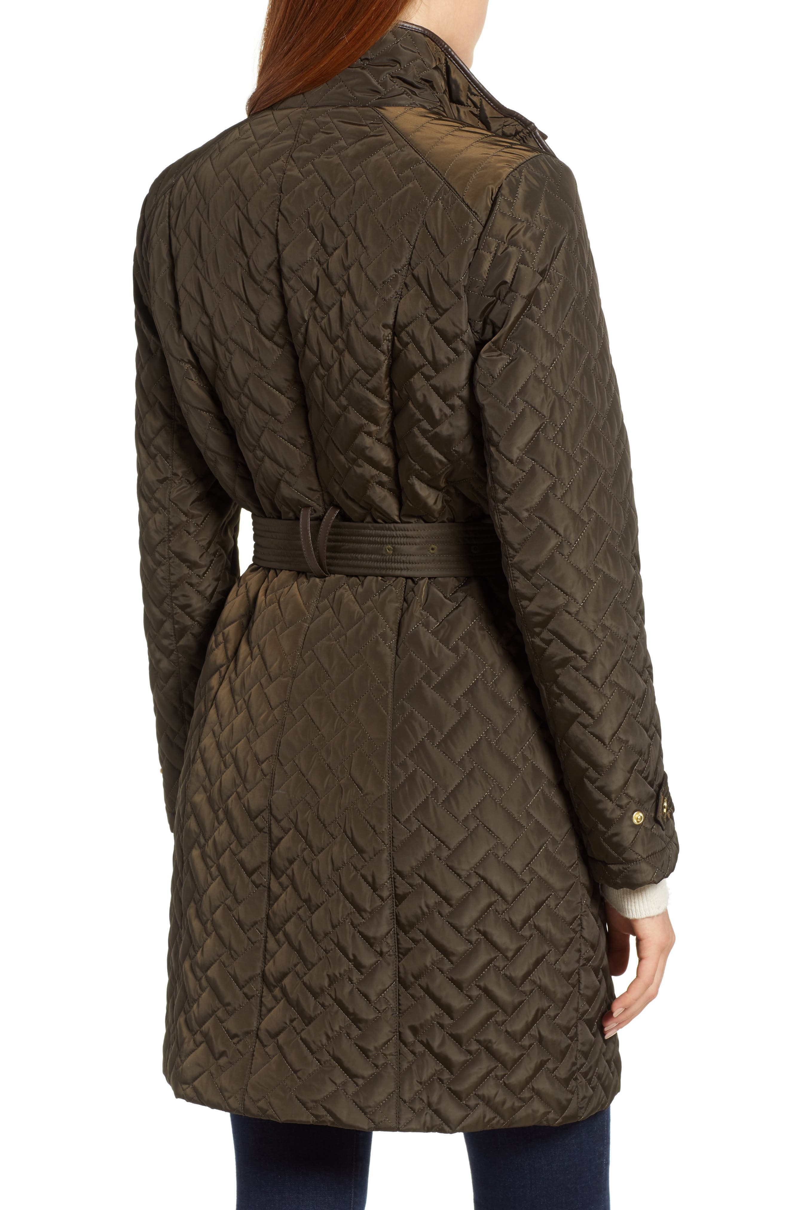 Belted Quilted Coat,                             Alternate thumbnail 9, color,