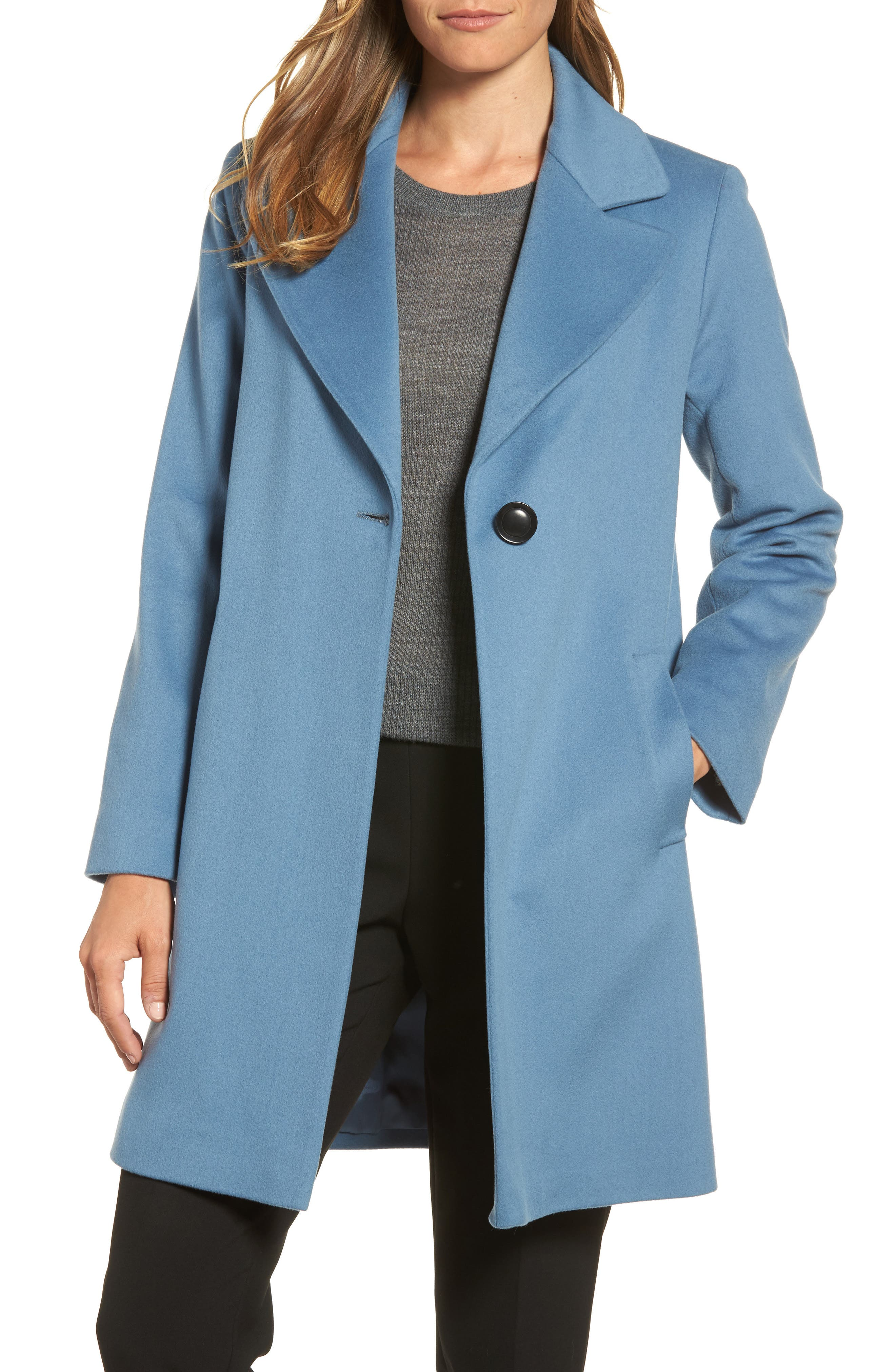 Single Button Wool Coat,                             Main thumbnail 1, color,                             425
