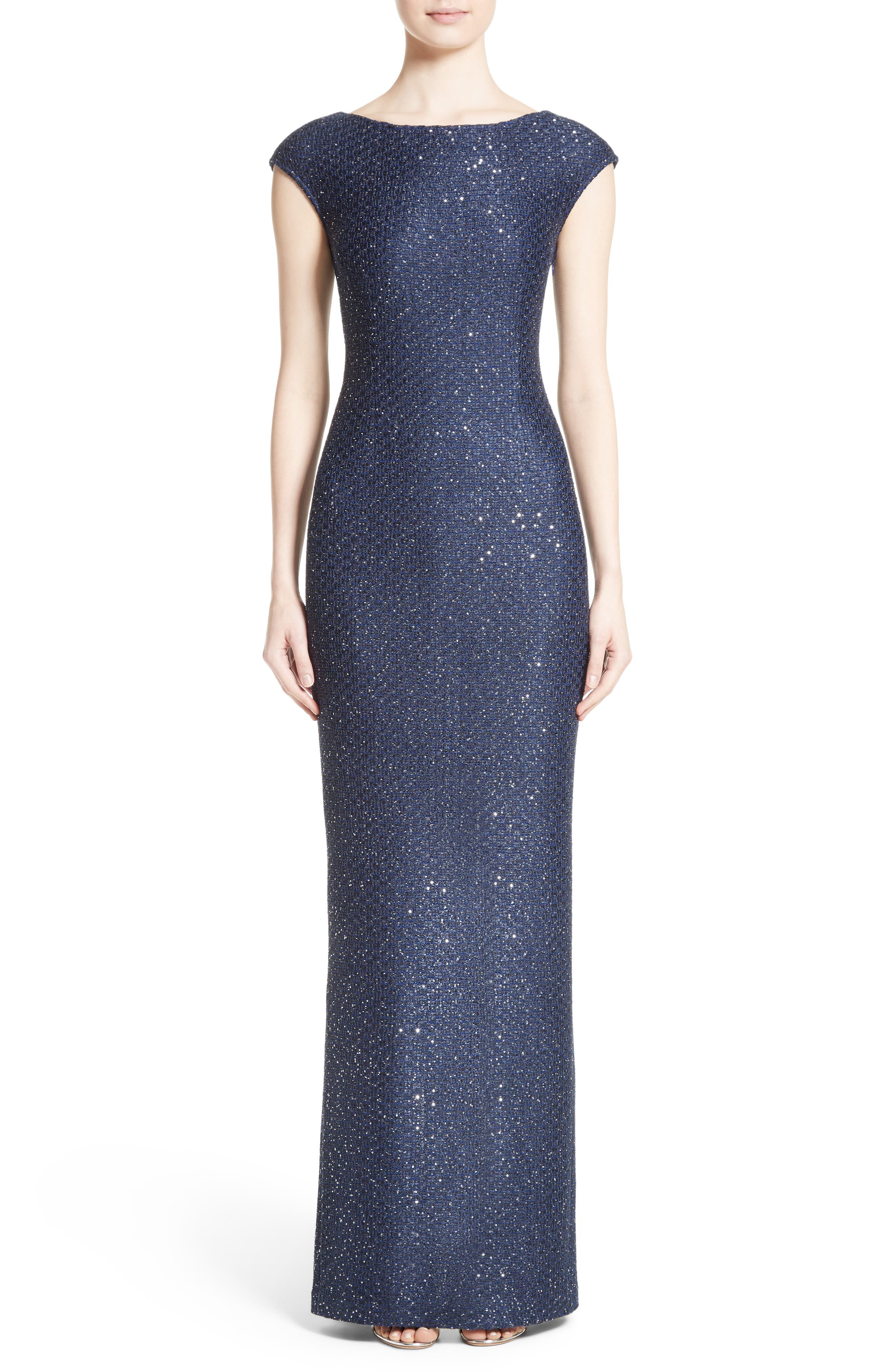 Sequin Gown,                         Main,                         color, 420