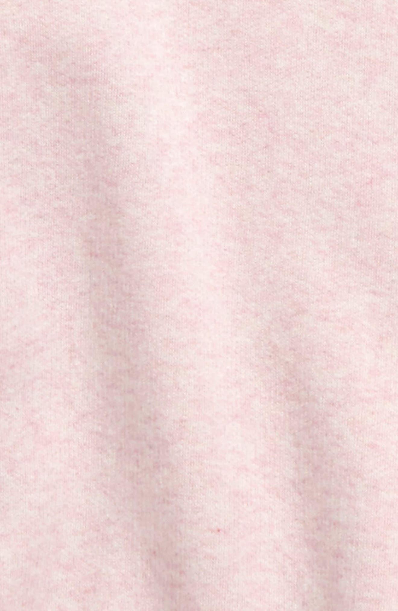 Ruffle Fleece Sweatshirt,                             Alternate thumbnail 2, color,                             PINK BREATH HEATHER